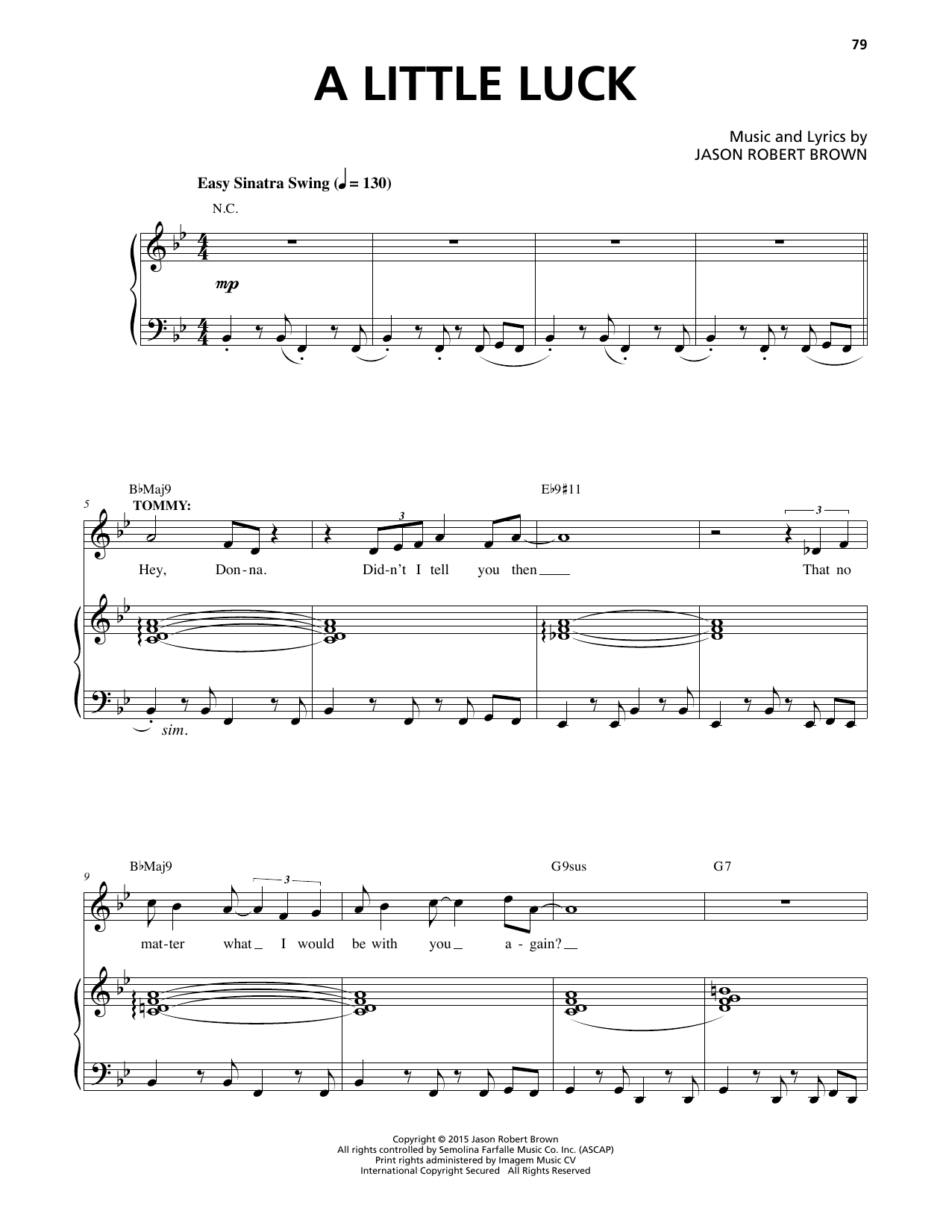 A Little Luck Sheet Music