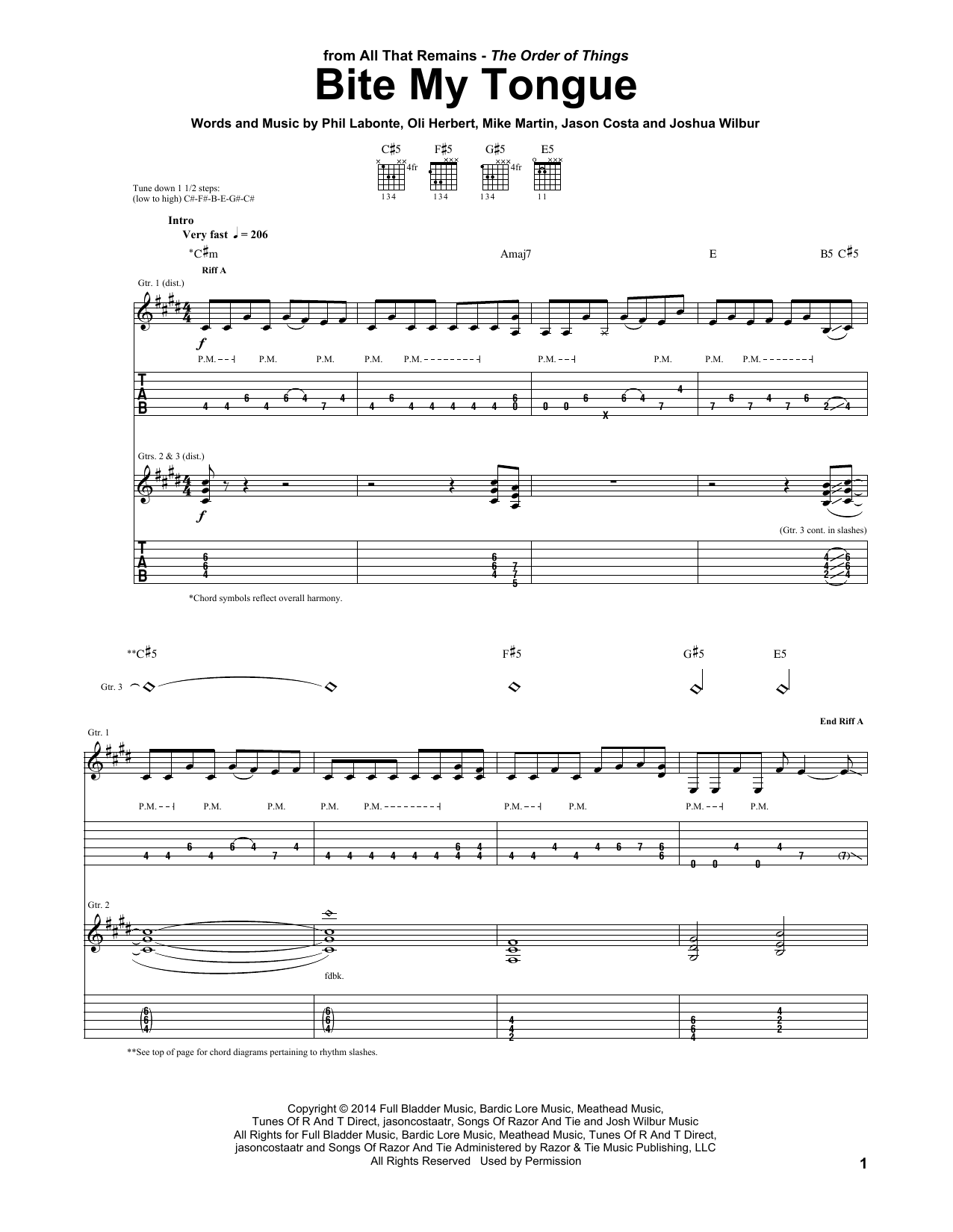 Bite My Tongue Sheet Music
