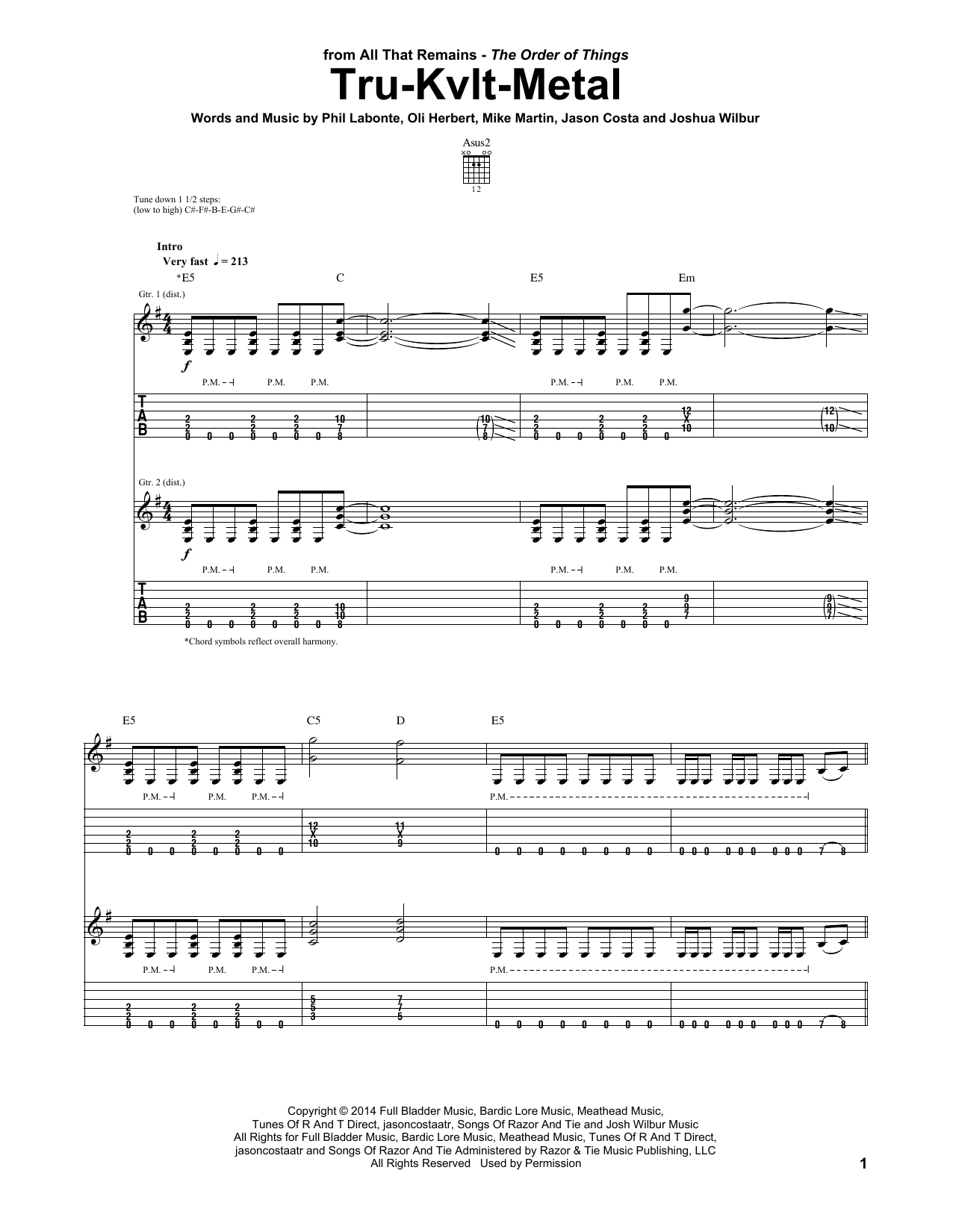 Tru-Kvlt-Metal Sheet Music