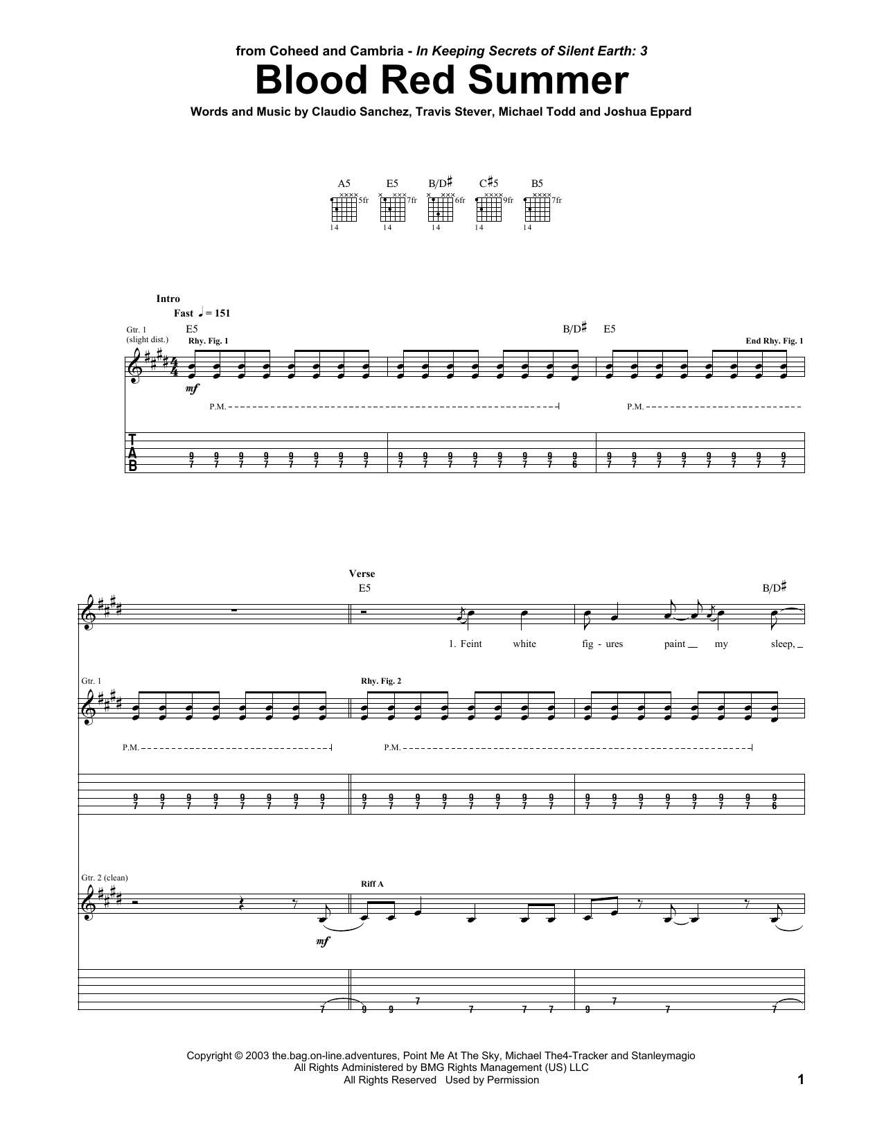 Blood Red Summer Sheet Music