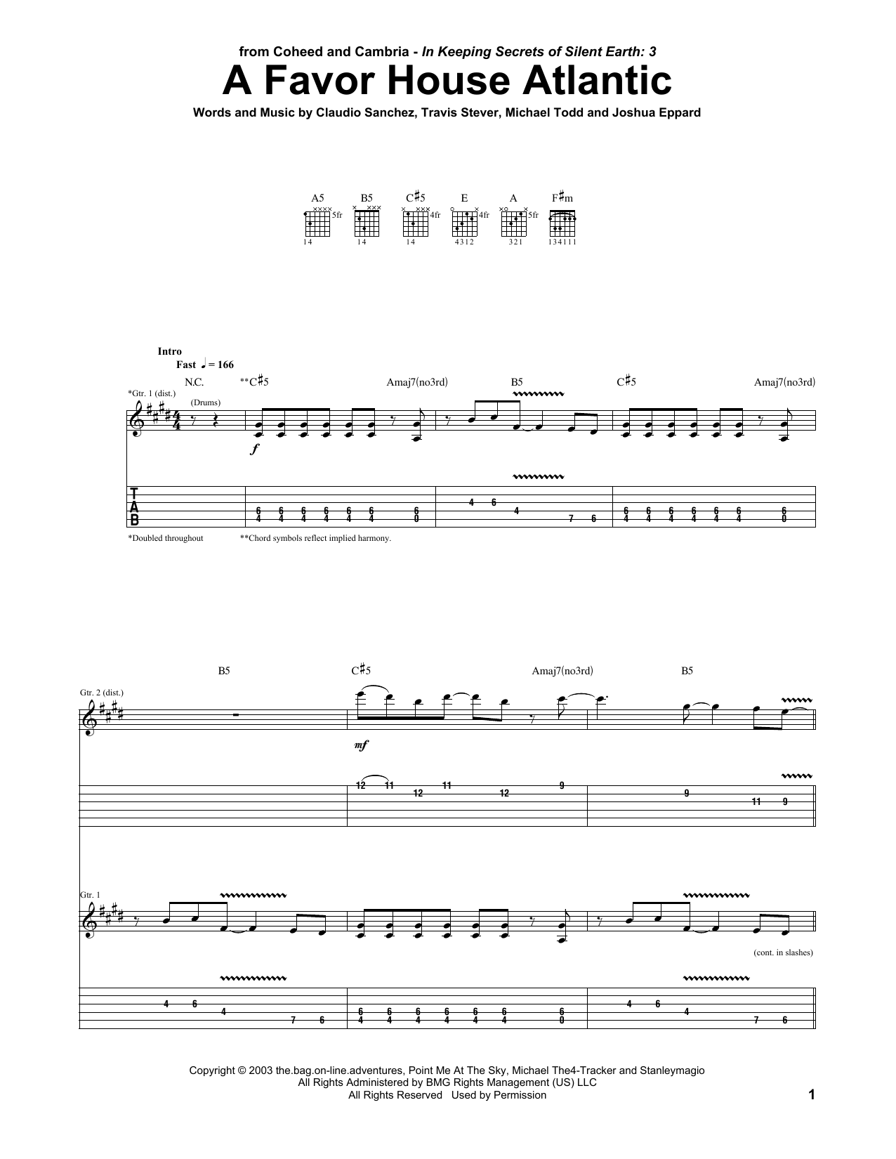 A Favor House Atlantic Sheet Music