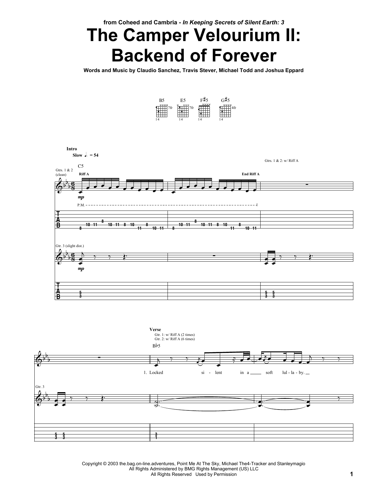 The Camper Velourium II: Backend Of Forever Sheet Music