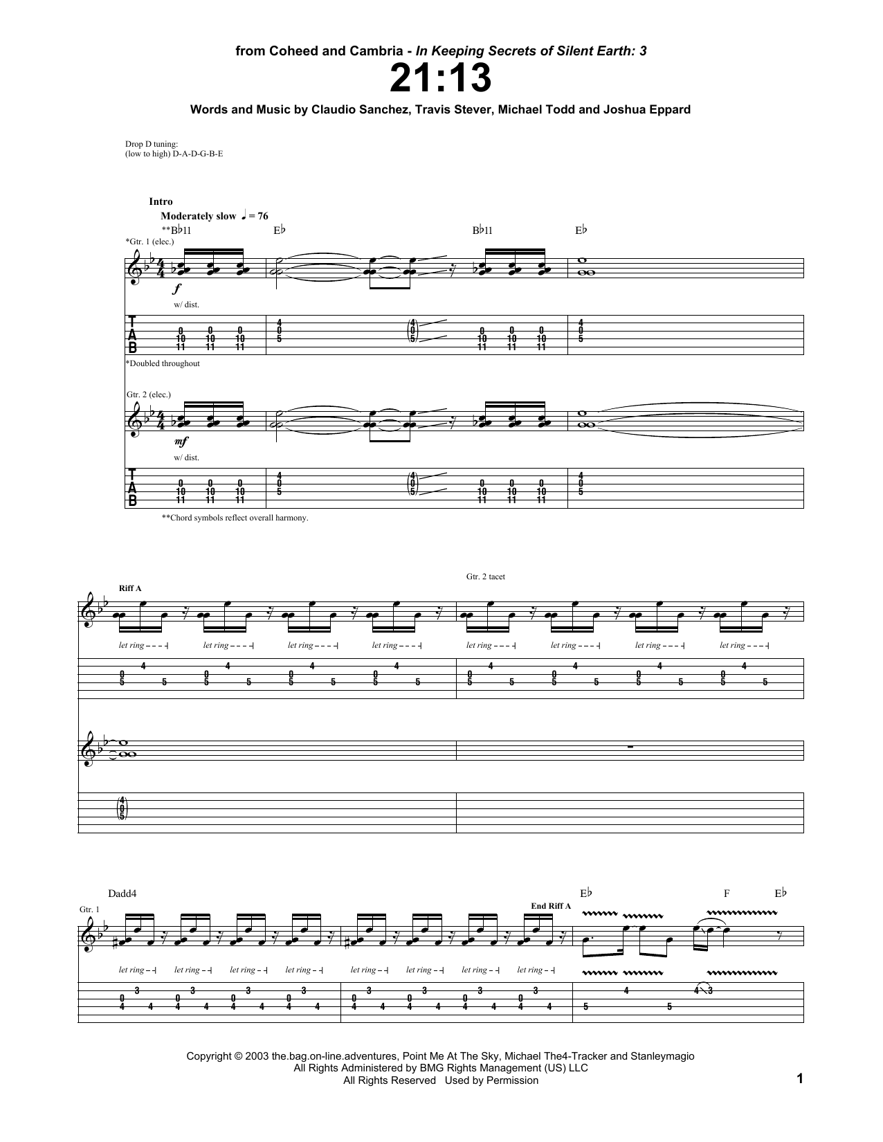 21:13 Sheet Music