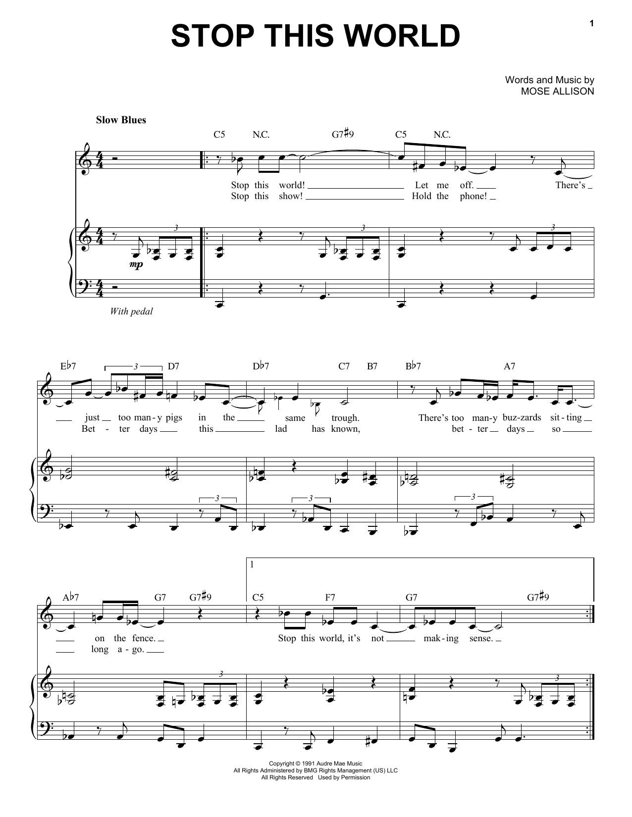 Stop This World Sheet Music