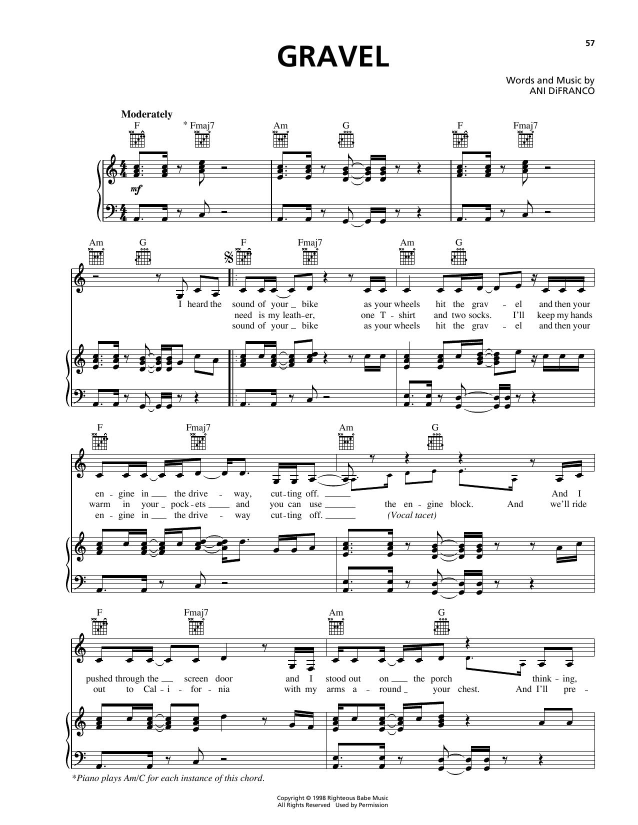 Gravel Sheet Music