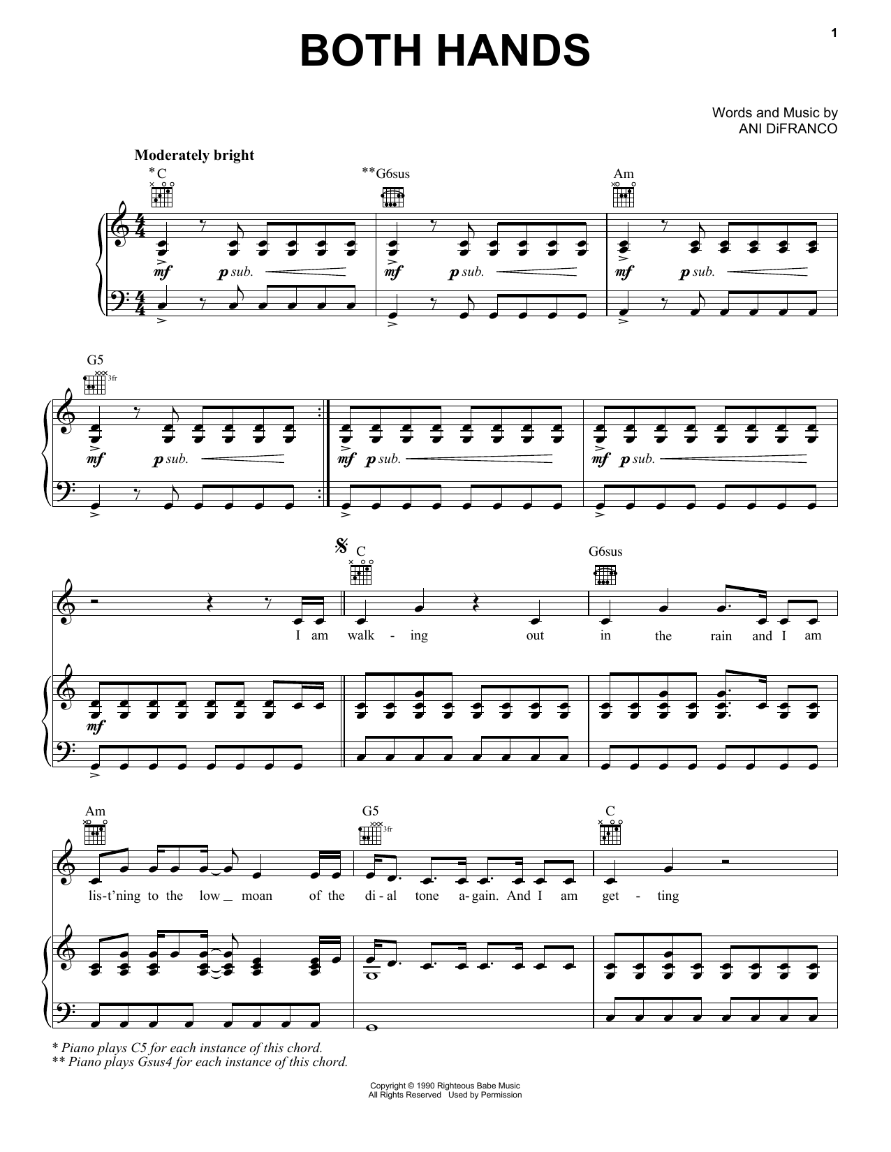 Both Hands Sheet Music