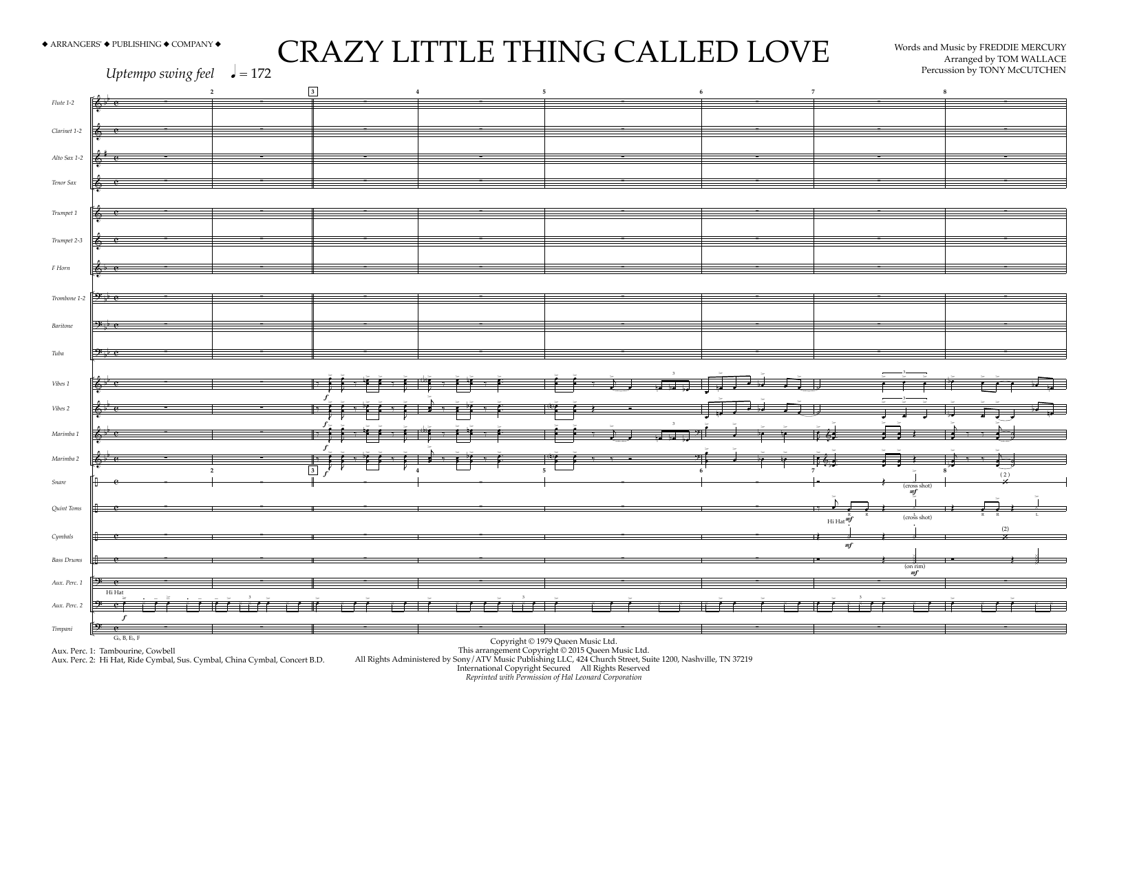 Crazy Little Thing Called Love - Full Score Partition Digitale