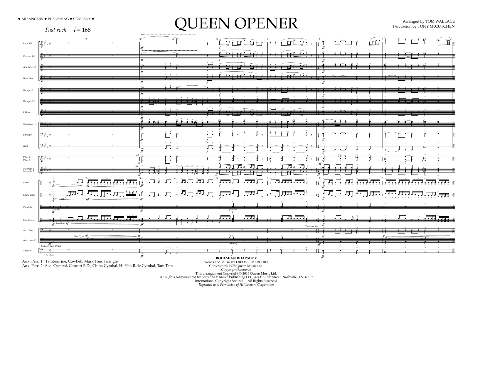 Queen Opener - Full Score (Marching Band)