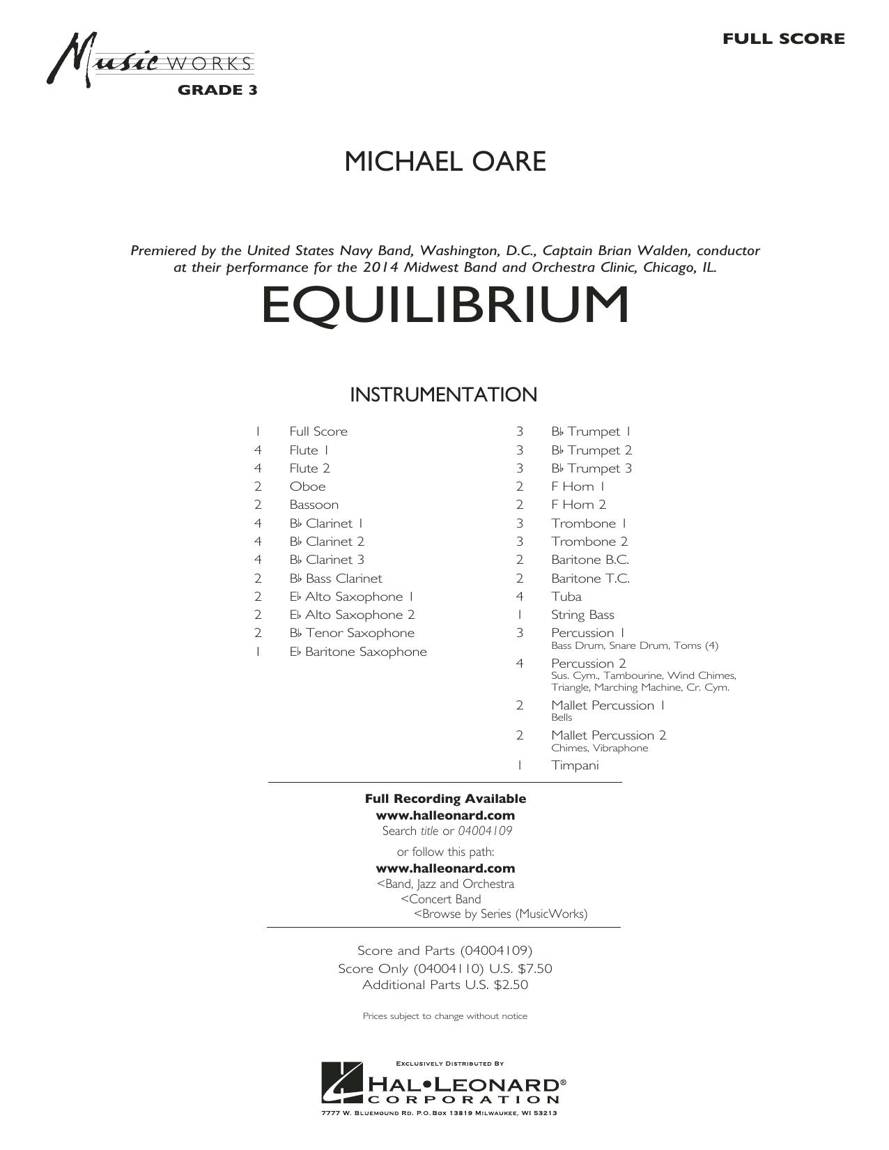 Equilibrium - Conductor Score (Full Score) (Concert Band)
