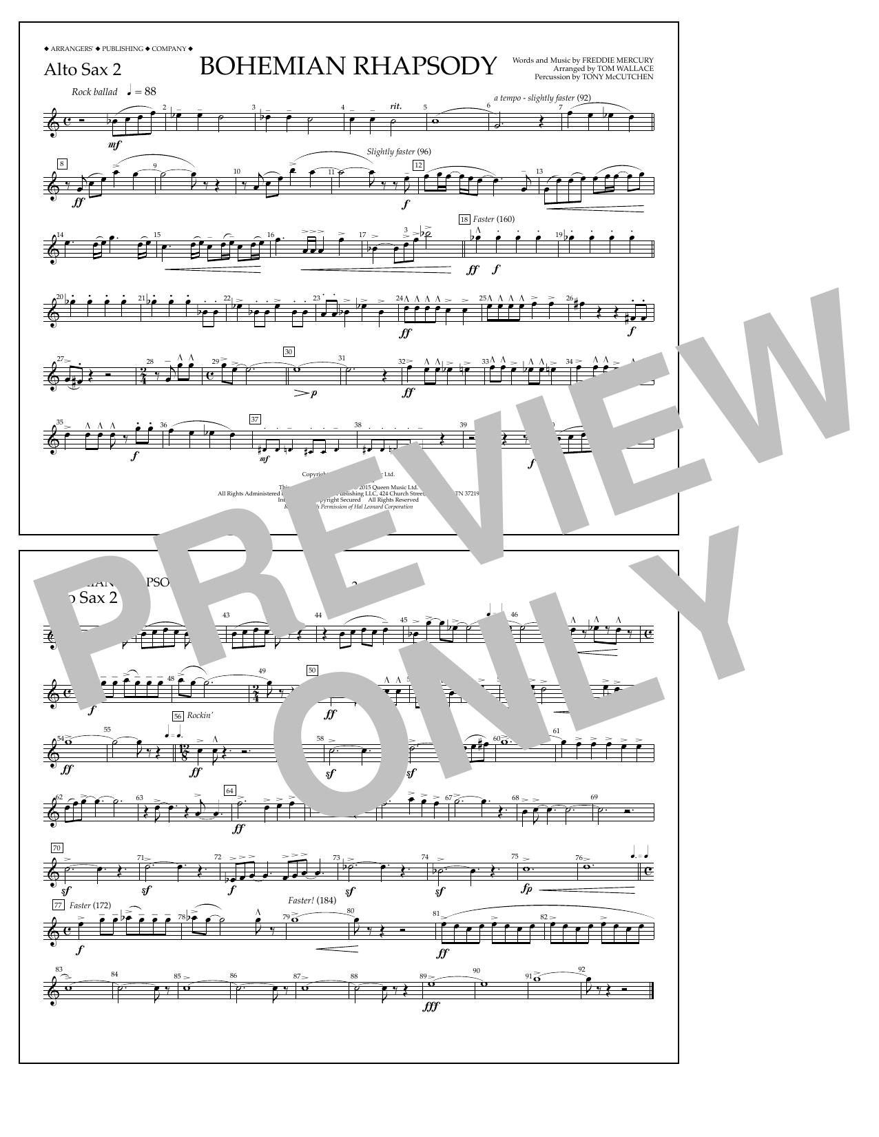 Bohemian Rhapsody - Alto Sax 2 Sheet Music