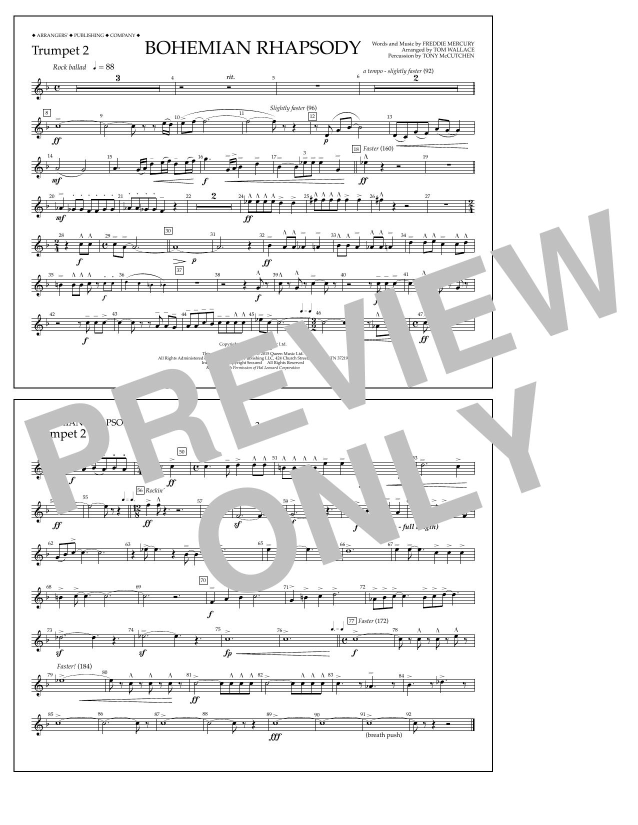 Bohemian Rhapsody - Trumpet 2 Sheet Music