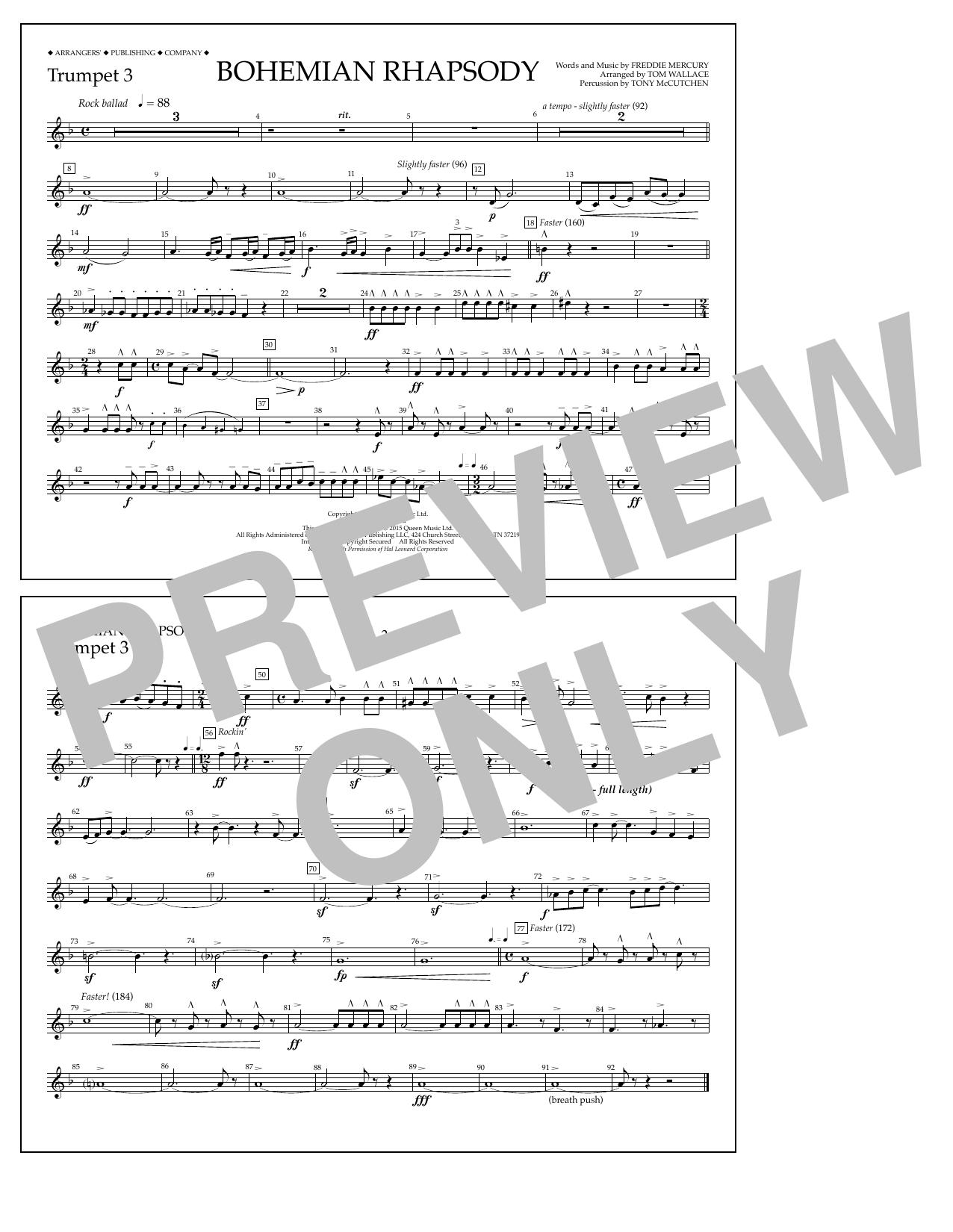Bohemian Rhapsody - Trumpet 3 (Marching Band)