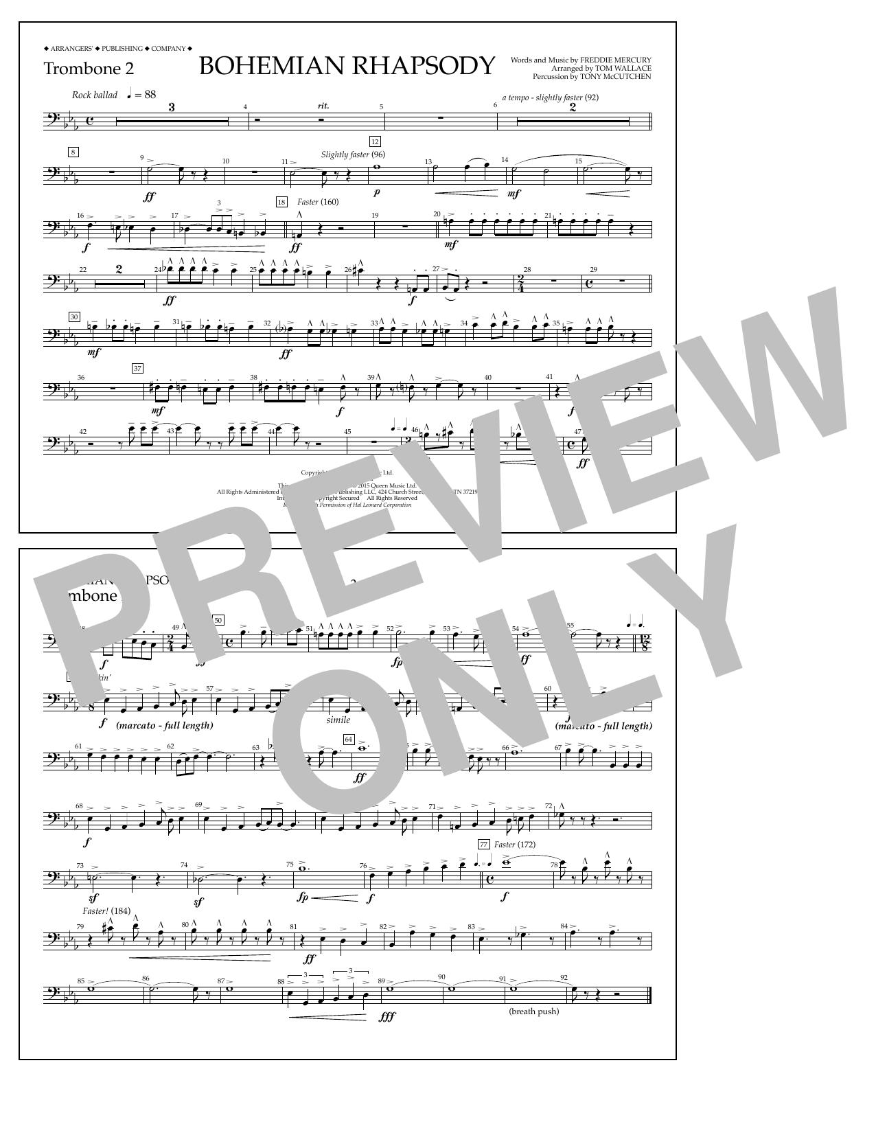 Bohemian Rhapsody - Trombone 2 Sheet Music