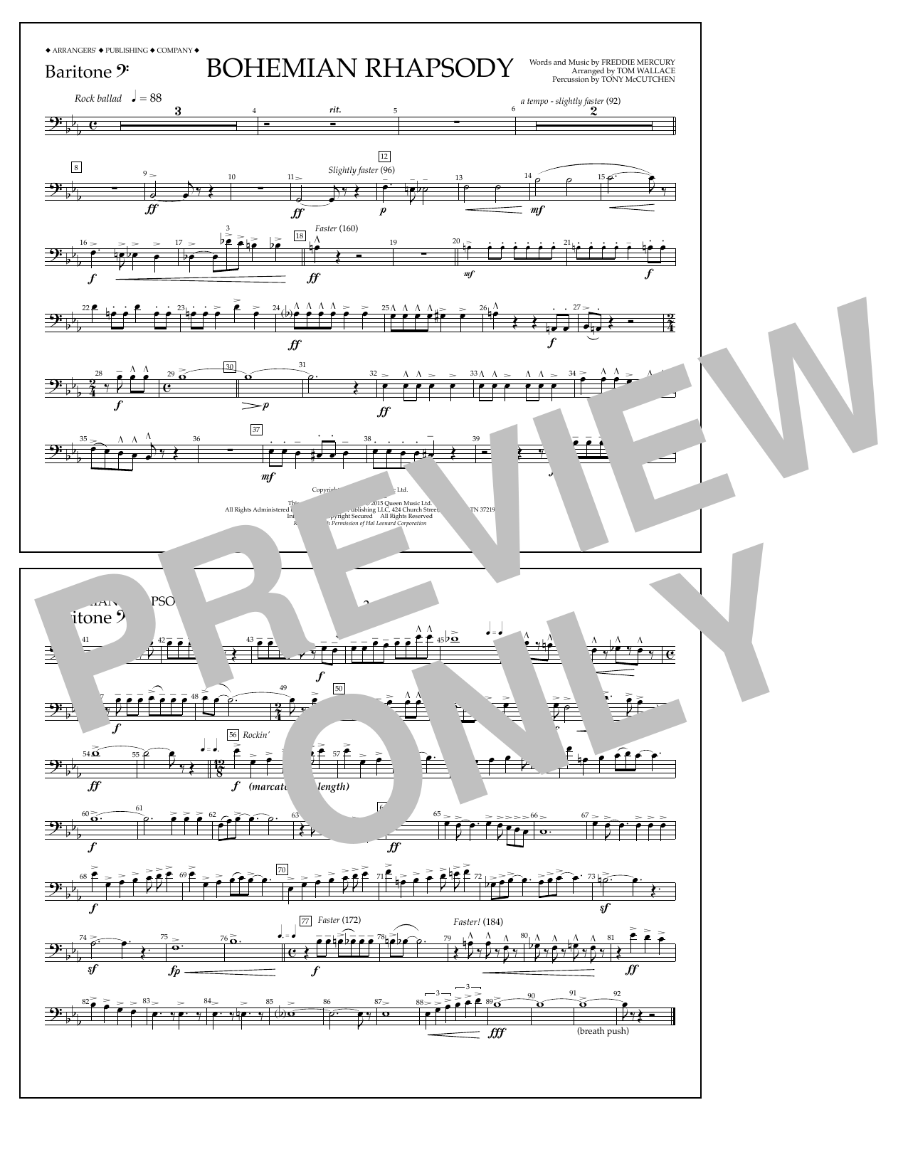Bohemian Rhapsody - Baritone B.C. (Marching Band)