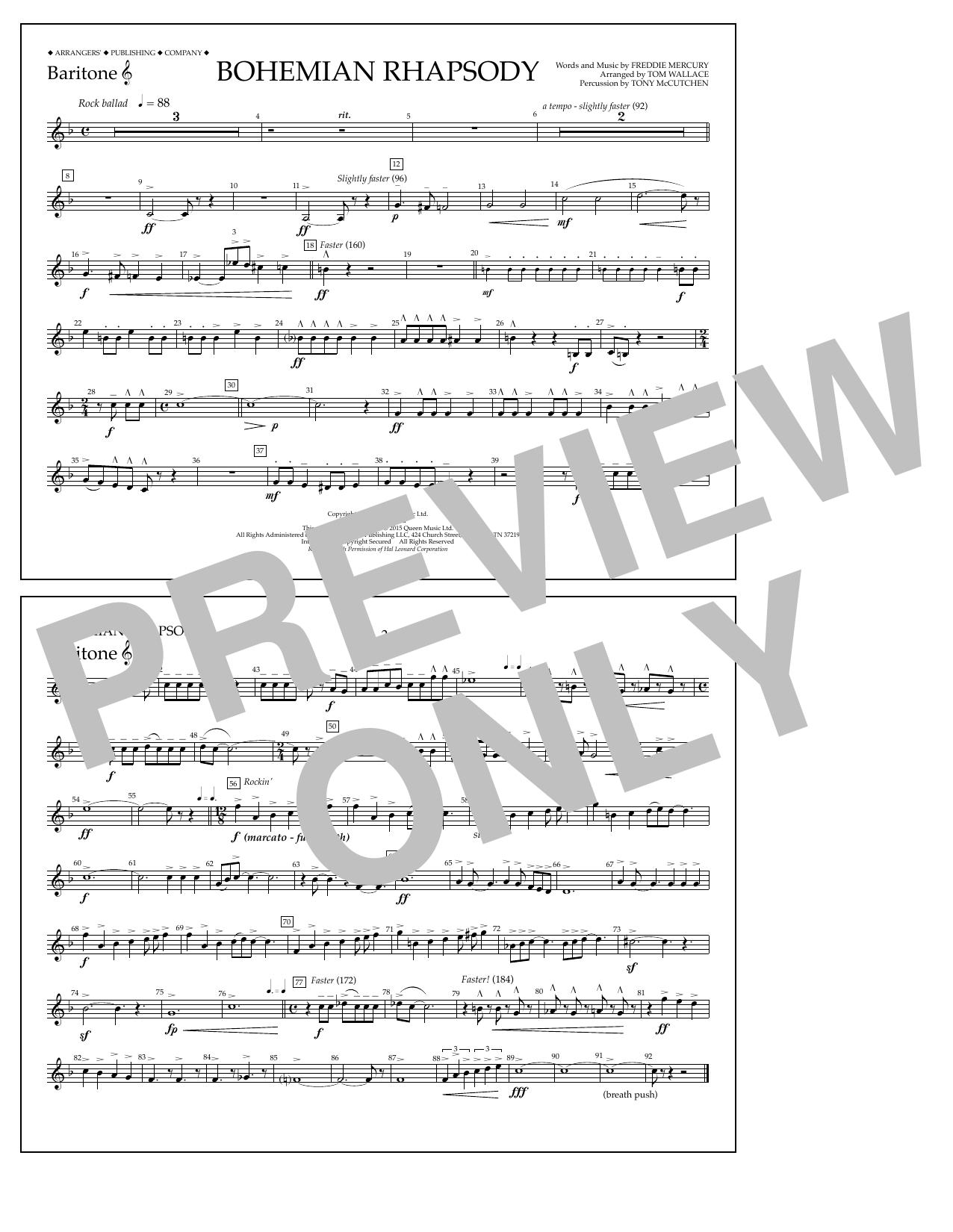Bohemian Rhapsody - Baritone T.C. (Marching Band)