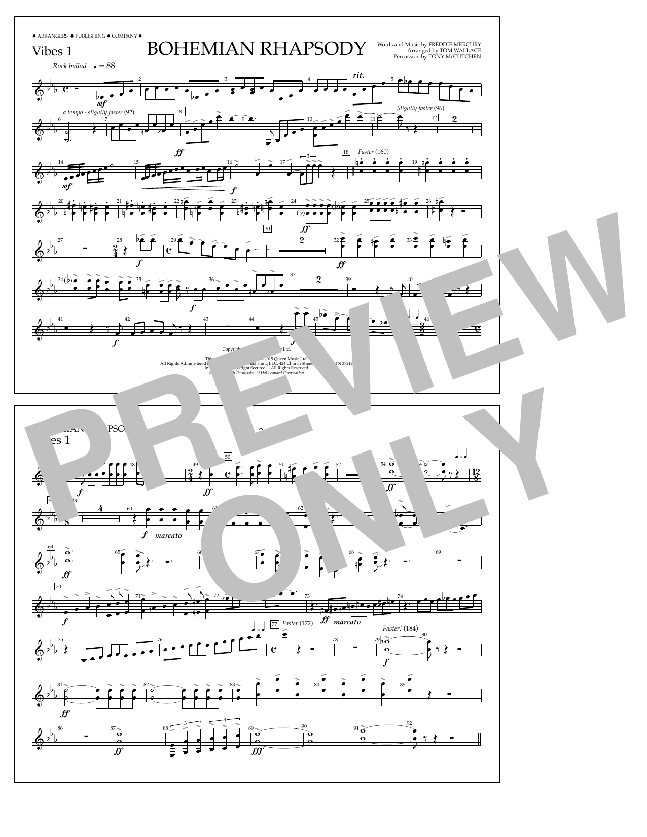 Bohemian Rhapsody - Vibes 1 Digitale Noten