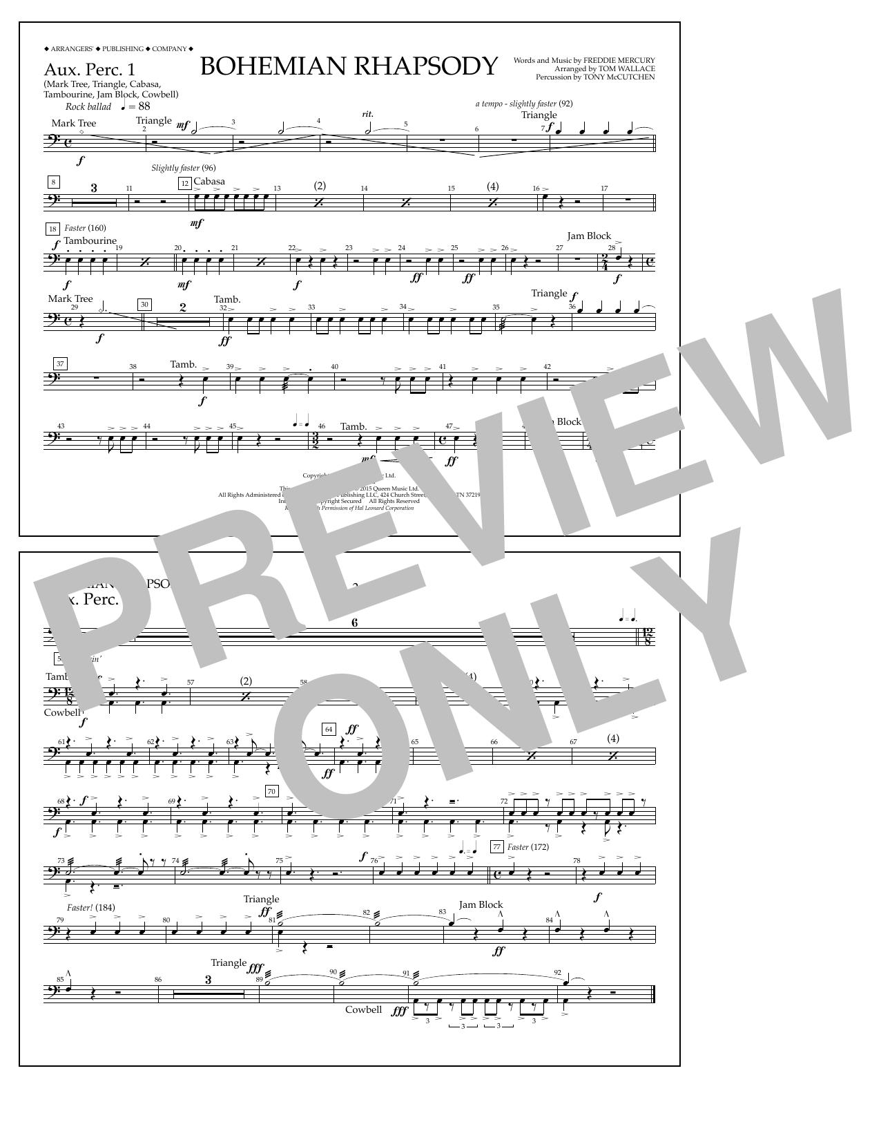 Bohemian Rhapsody - Aux. Perc. 1 Sheet Music