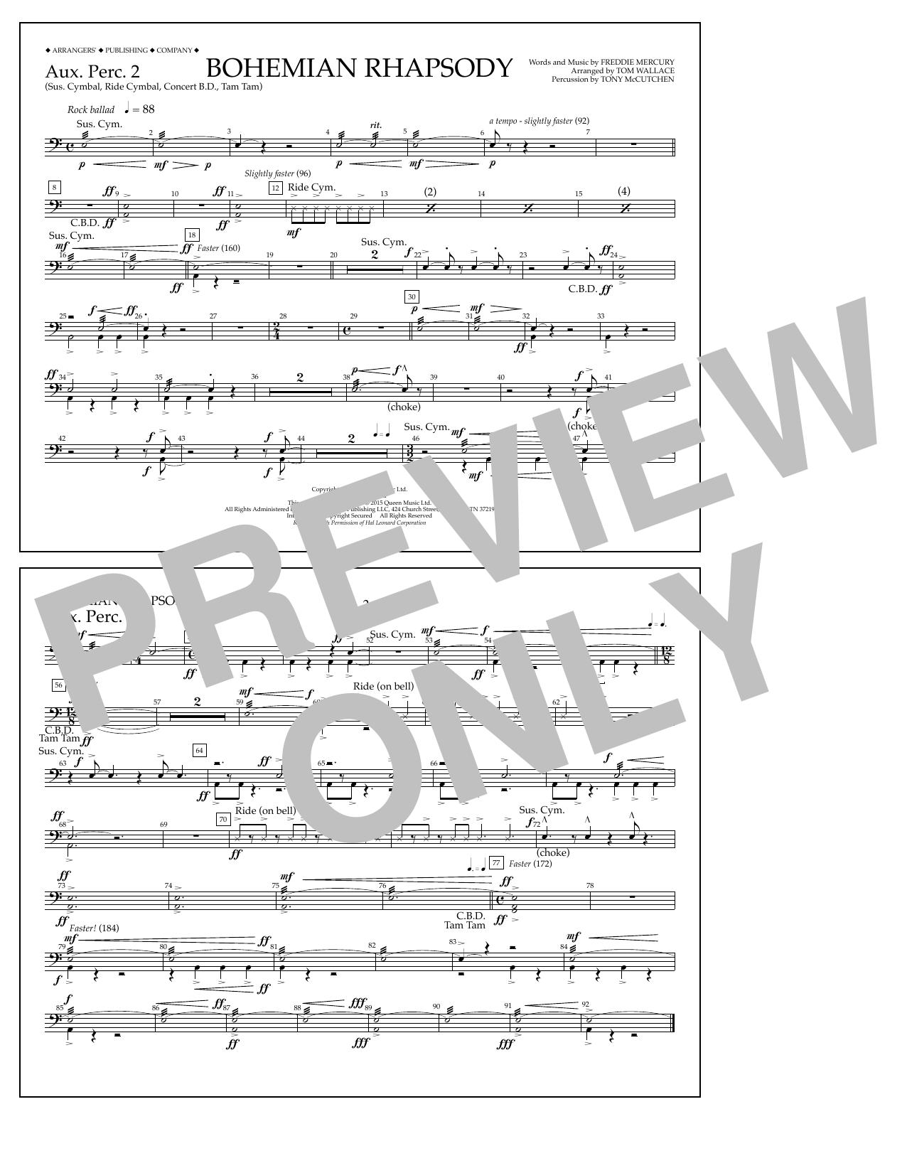 Bohemian Rhapsody - Aux. Perc. 2 (Marching Band)