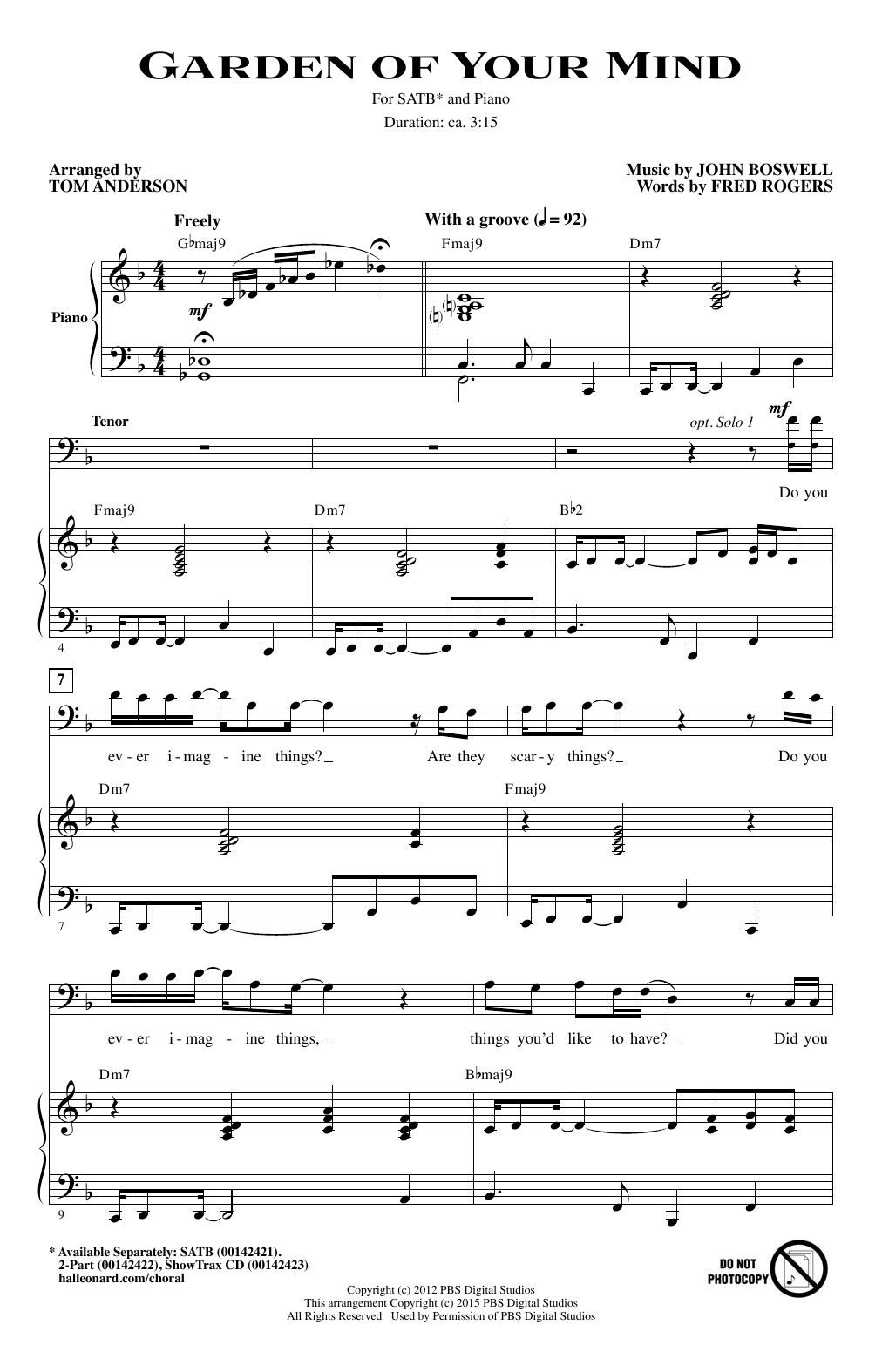Garden Of Your Mind (SATB Choir)
