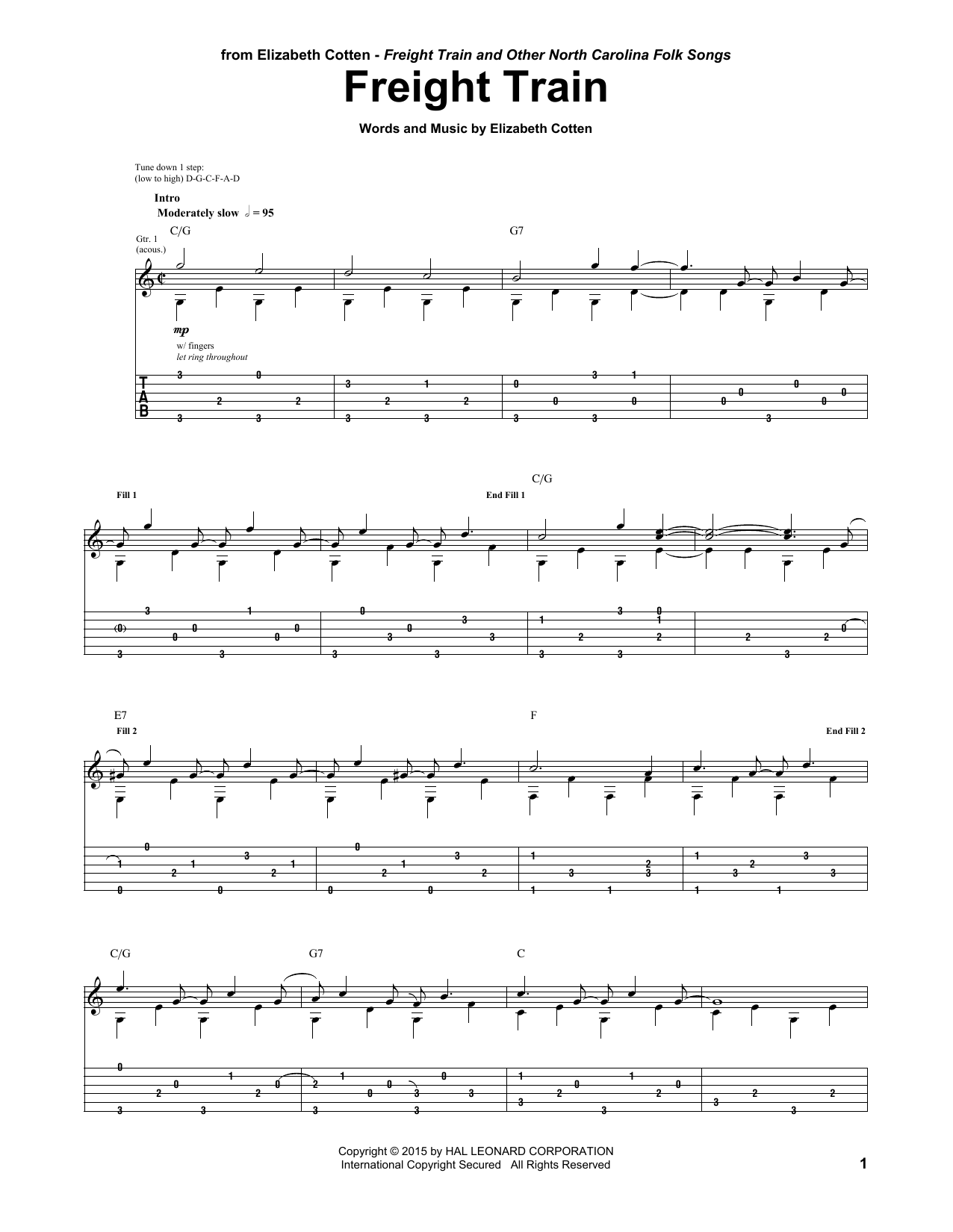 Freight Train Sheet Music