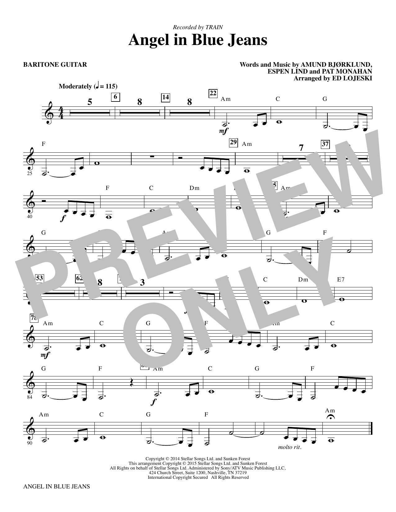 Angel in Blue Jeans - Baritone Guitar (Choir Instrumental Pak)