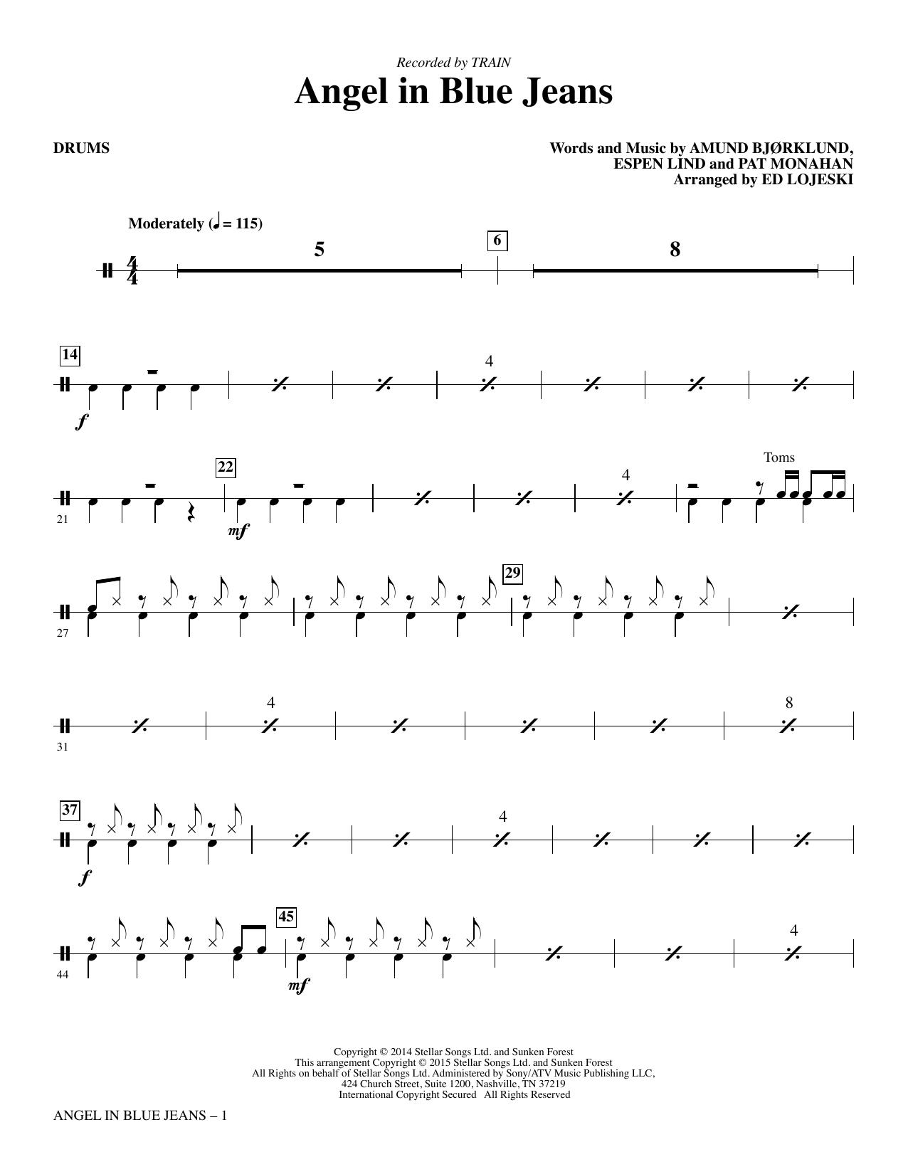 Angel in Blue Jeans - Drums (Choir Instrumental Pak)