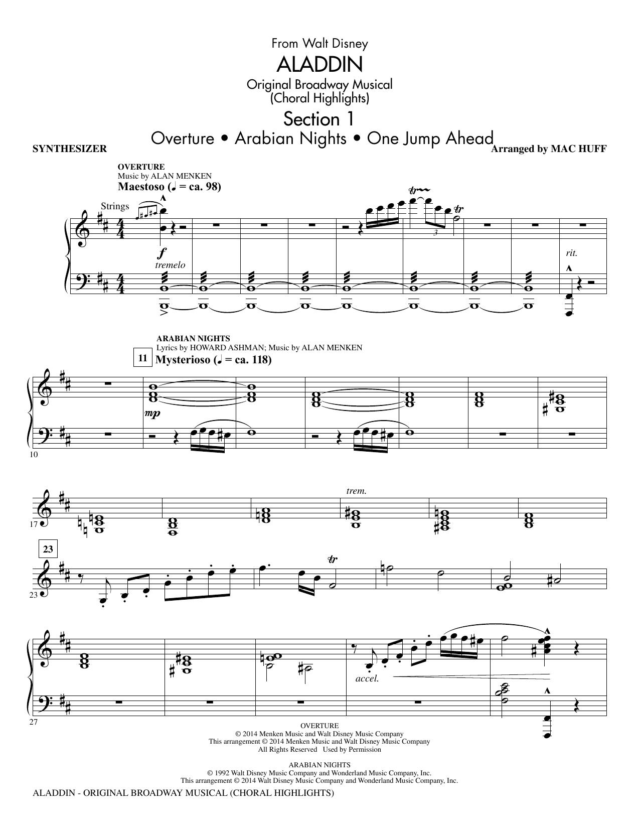 Aladdin (Choral Highlights) (from Aladdin: The Broadway Musical) (arr. Mac Huff) - Synthesizer (Choir Instrumental Pak)