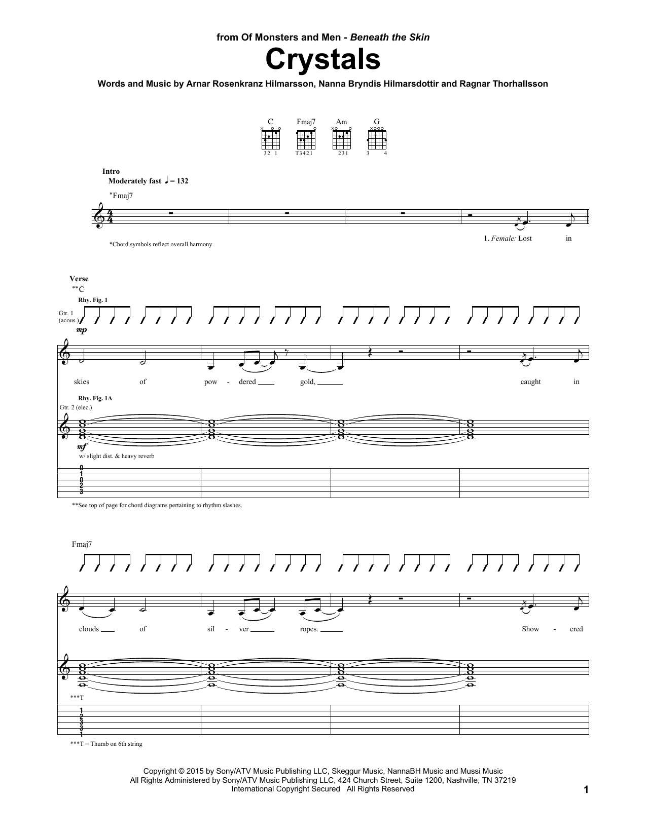 Crystals Sheet Music