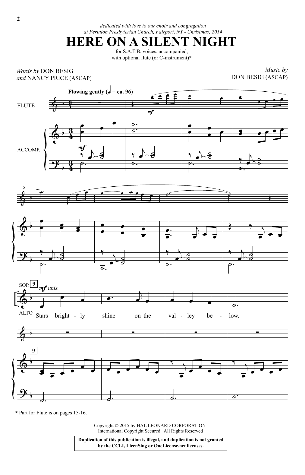 Here On A Silent Night Sheet Music