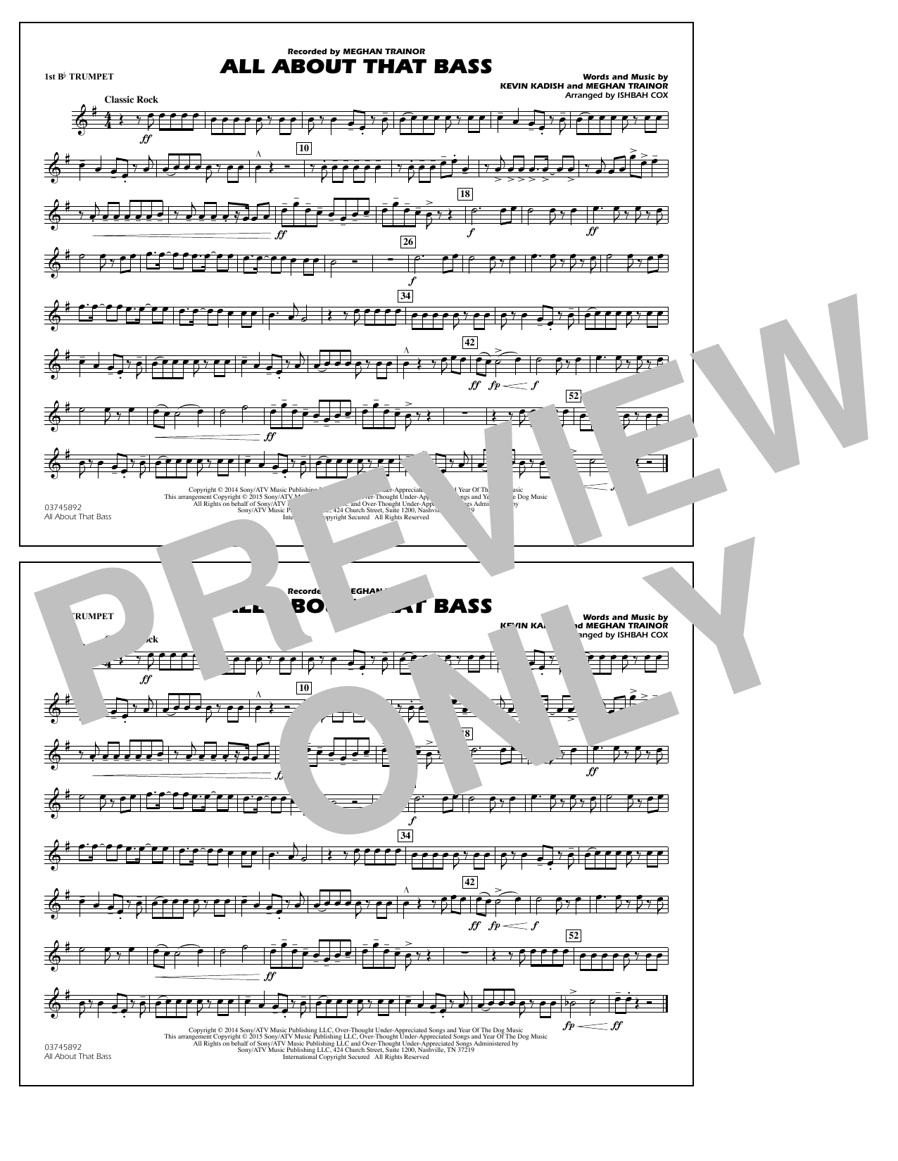 All About That Bass - 1st Bb Trumpet (Marching Band)