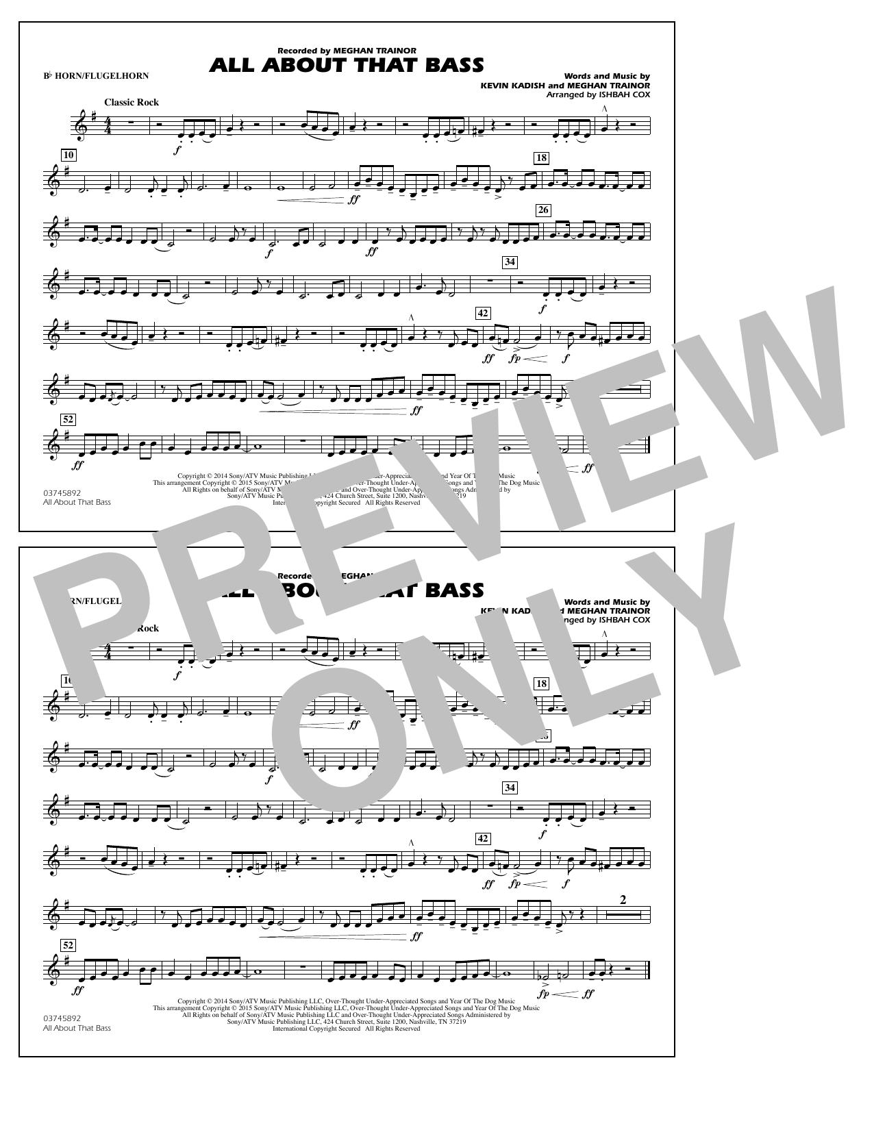 All About That Bass - Bb Horn/Flugelhorn (Marching Band)