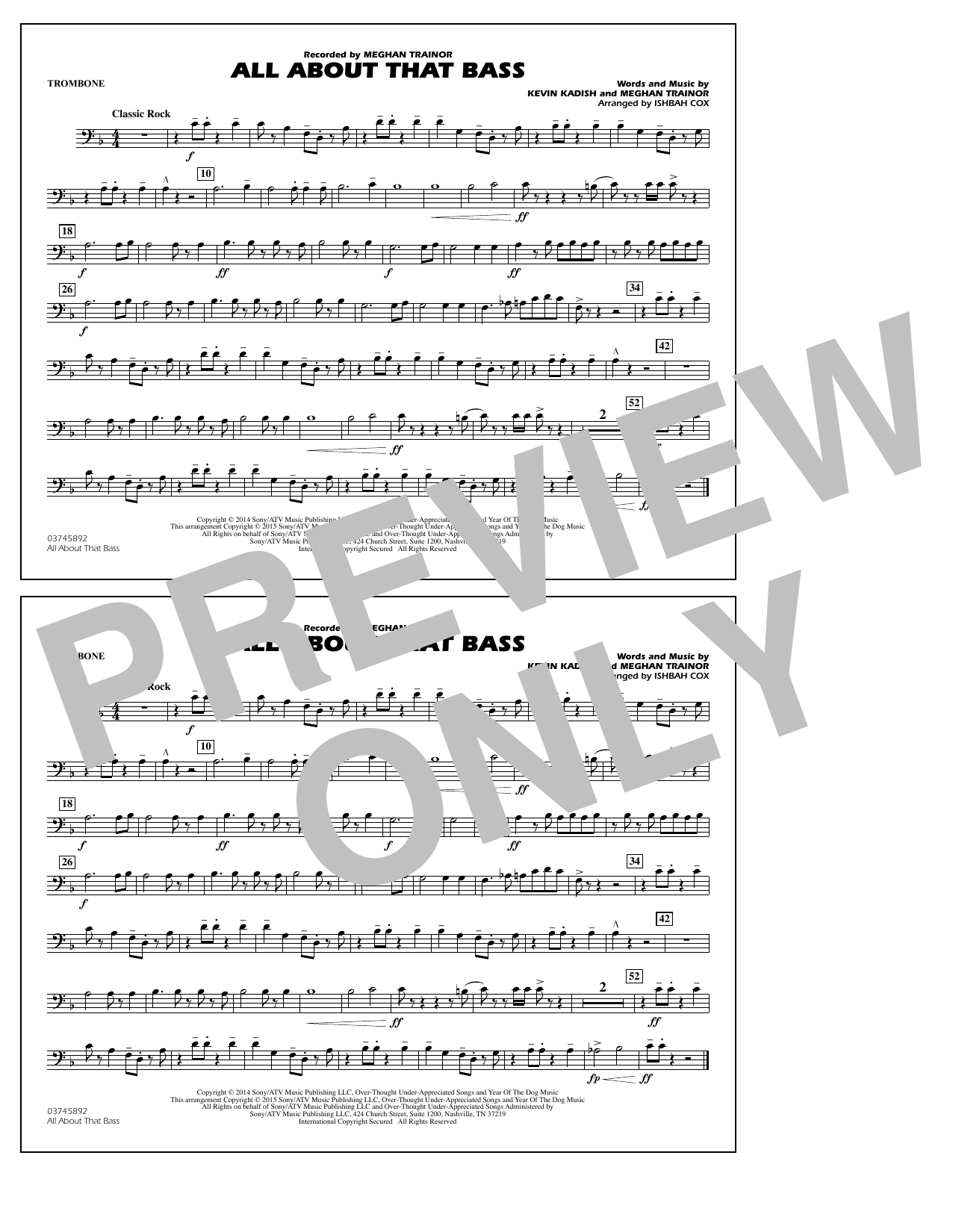 All About That Bass - Trombone (Marching Band)