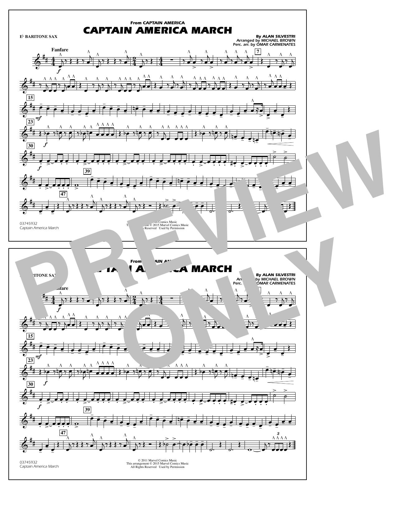Captain America March - Eb Baritone Sax (Marching Band)