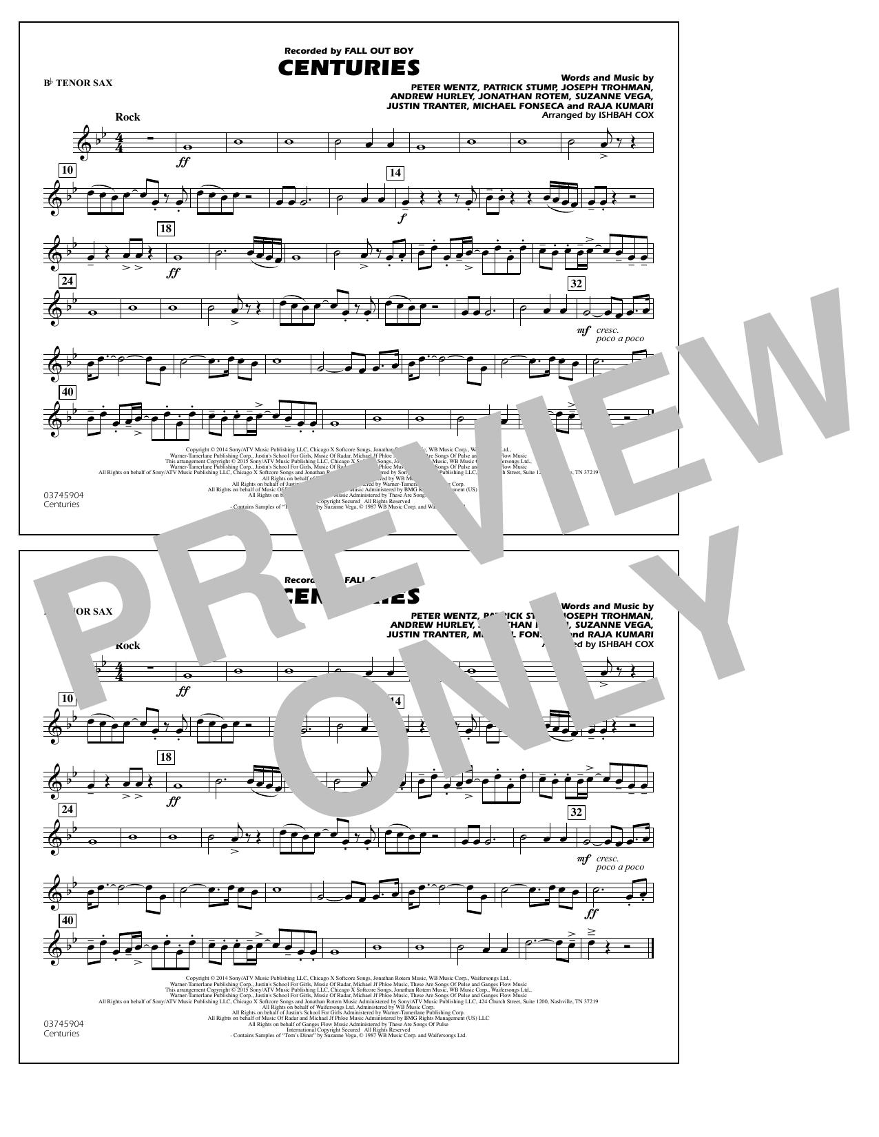 Centuries - Bb Tenor Sax (Marching Band)