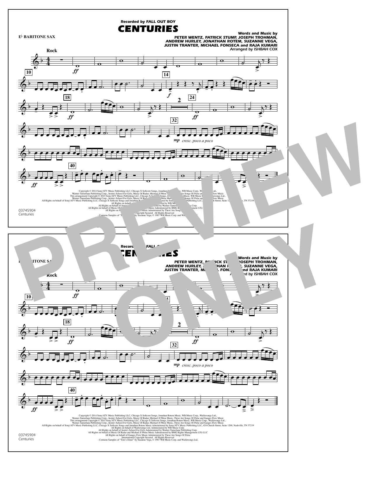 Centuries - Eb Baritone Sax (Marching Band)