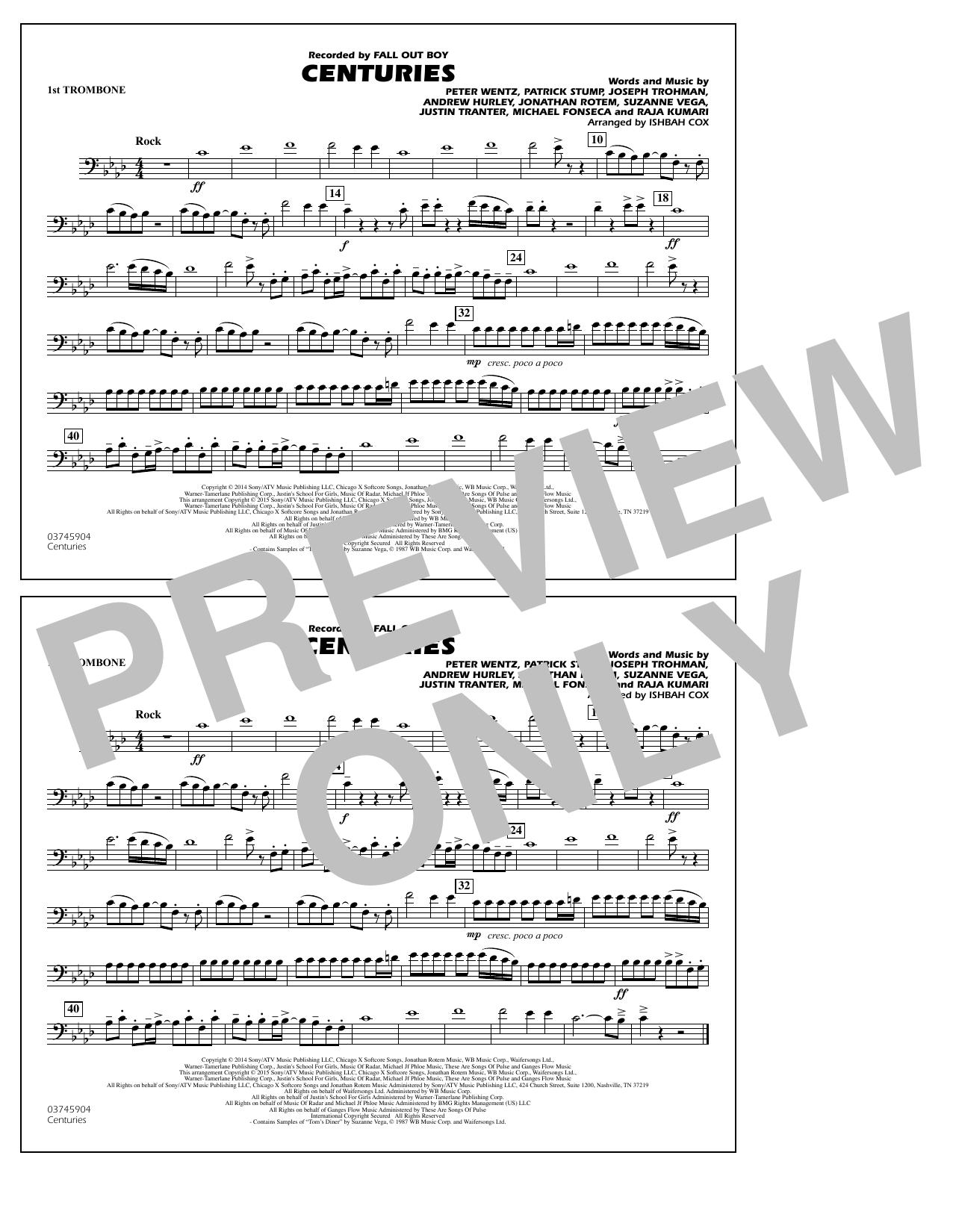 Centuries - 1st Trombone (Marching Band)