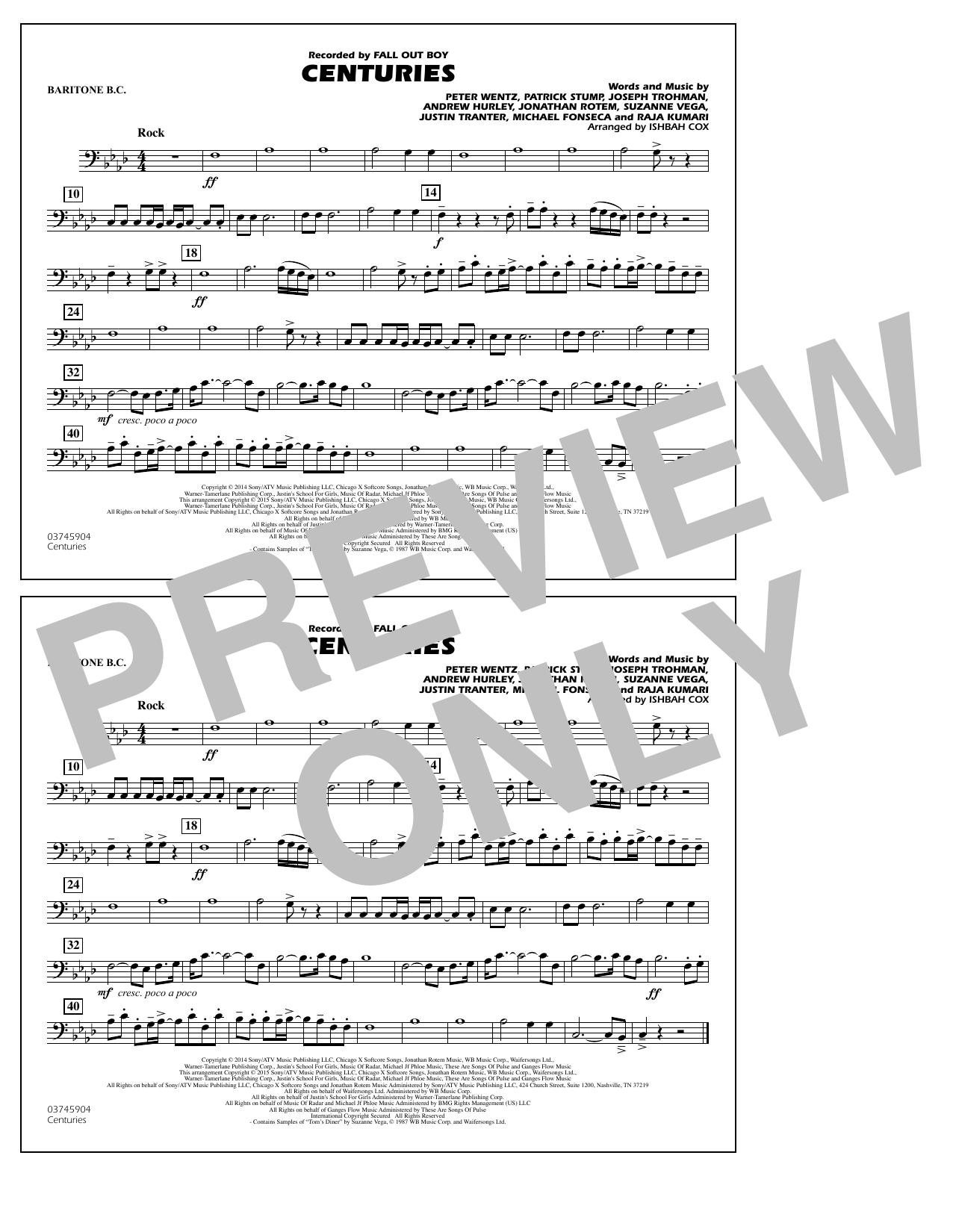 Centuries - Baritone B.C. (Marching Band)