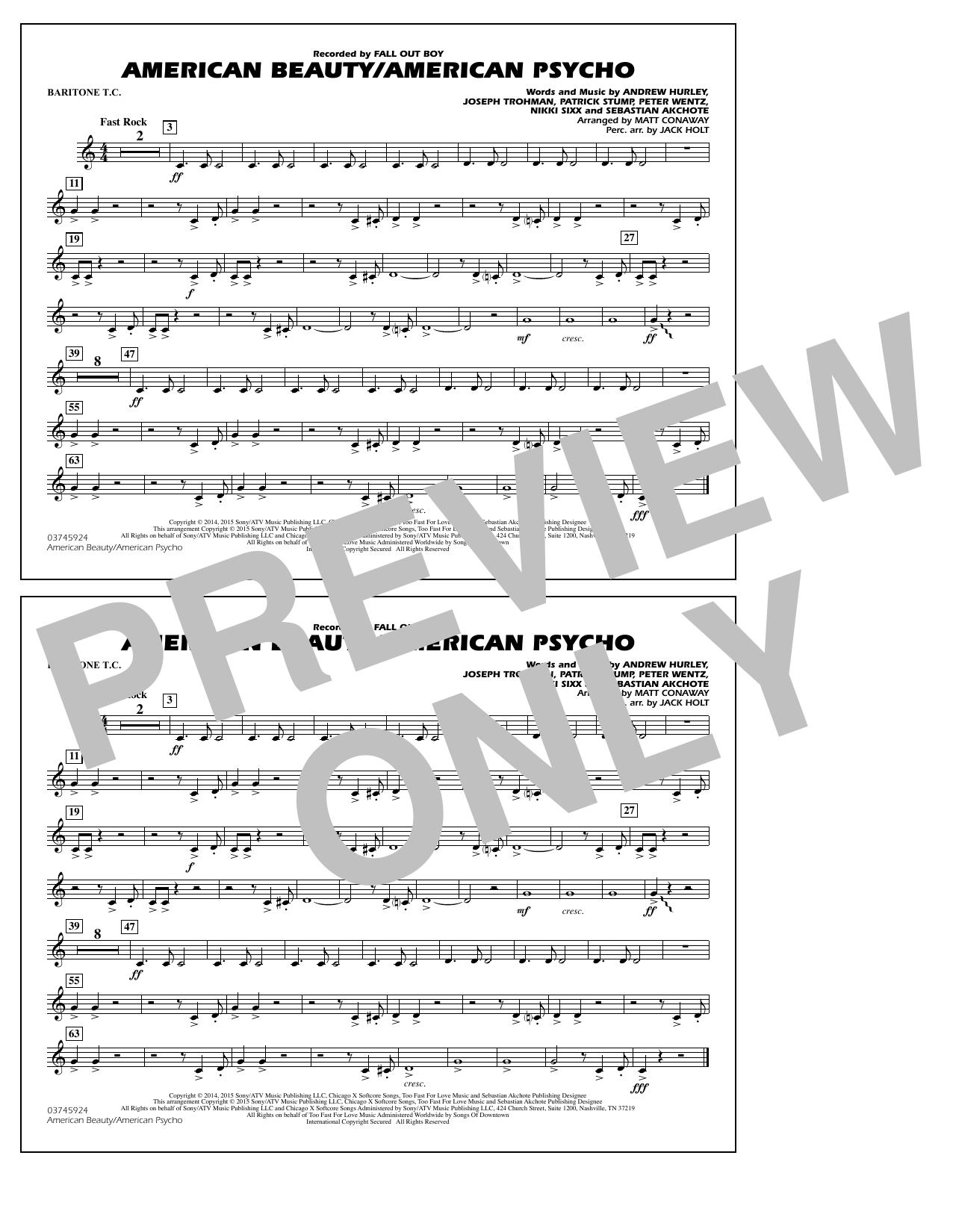 American Beauty/American Psycho - Baritone T.C. (Marching Band)