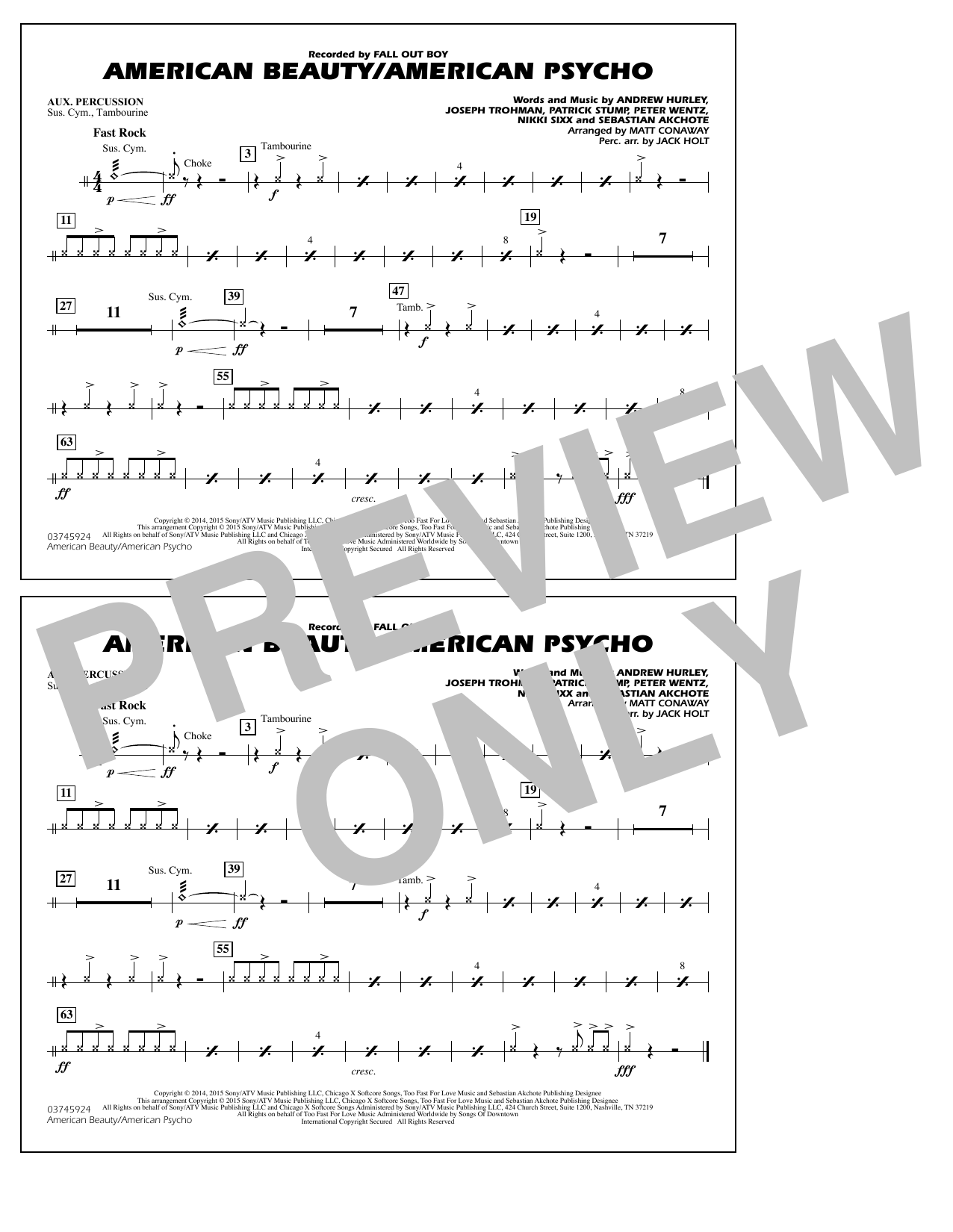 American Beauty/American Psycho - Aux Percussion (Marching Band)