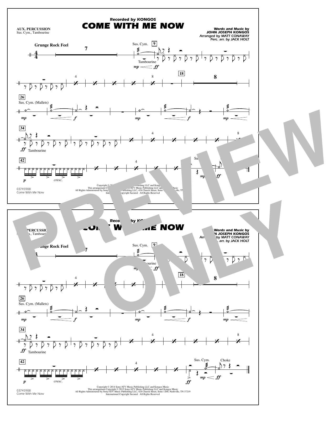 Come with Me Now - Aux Percussion (Marching Band)
