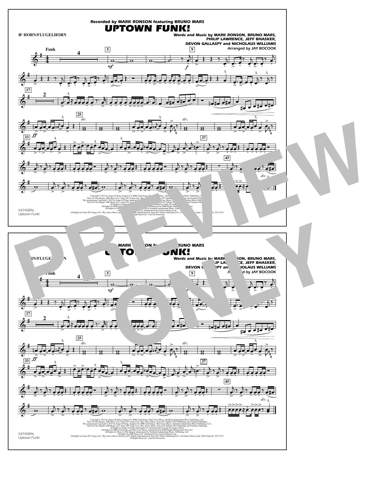 Uptown Funk! - Bb Horn/Flugelhorn (Marching Band)