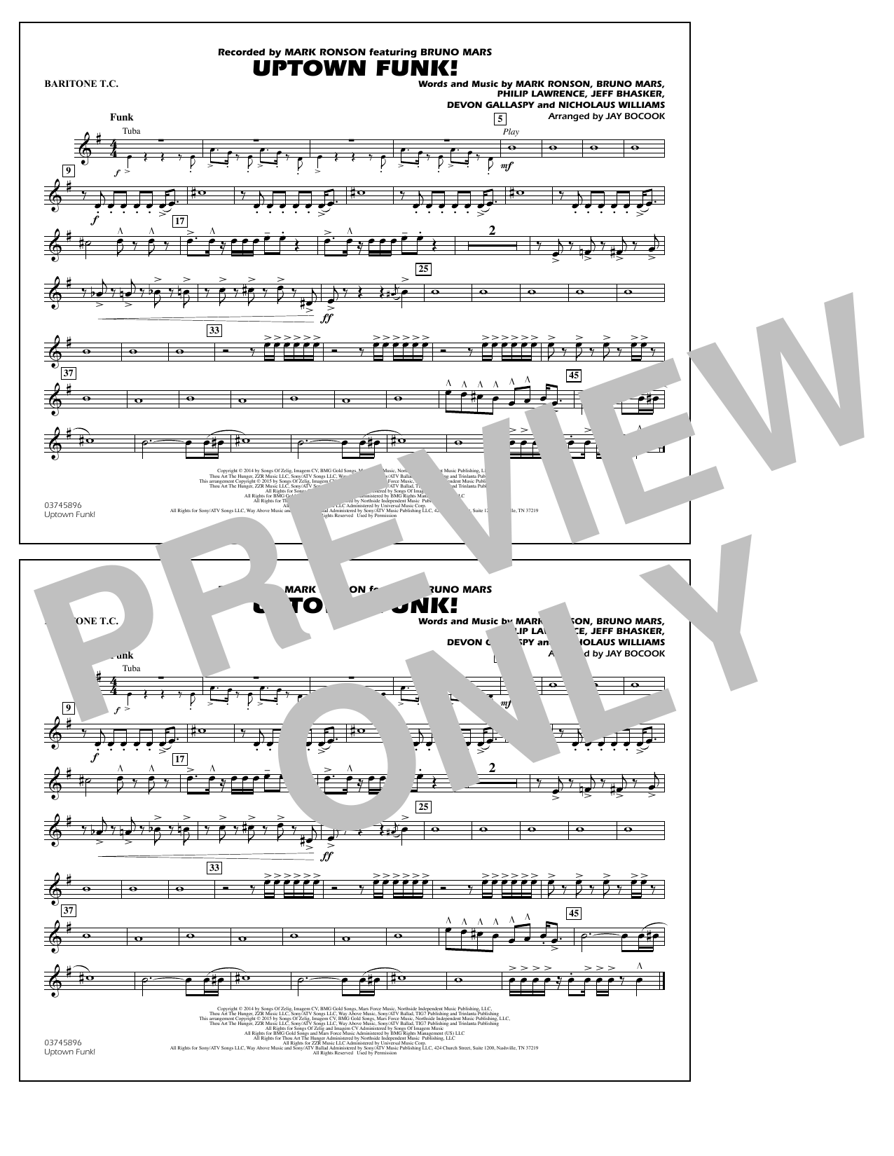 Uptown Funk! - Baritone T.C. (Marching Band)