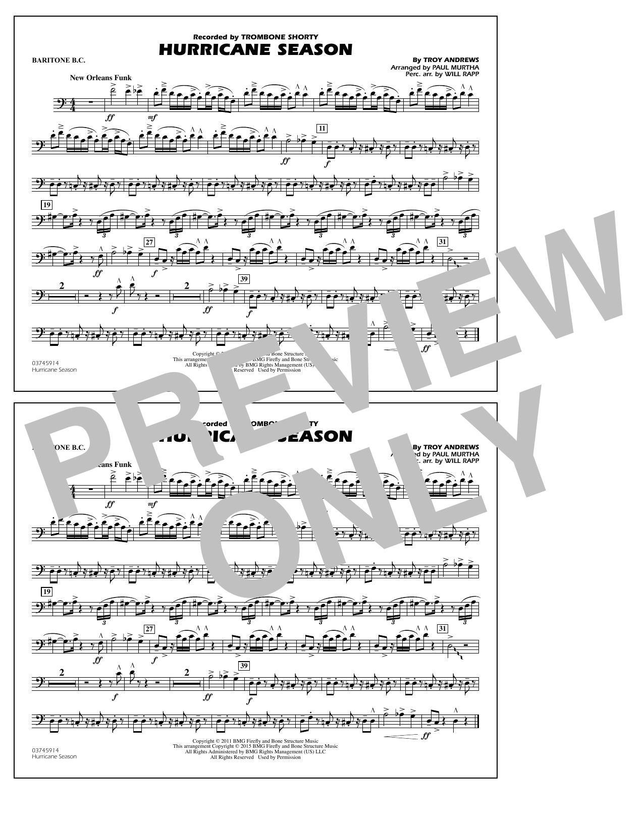 Hurricane Season - Baritone B.C. (Marching Band)