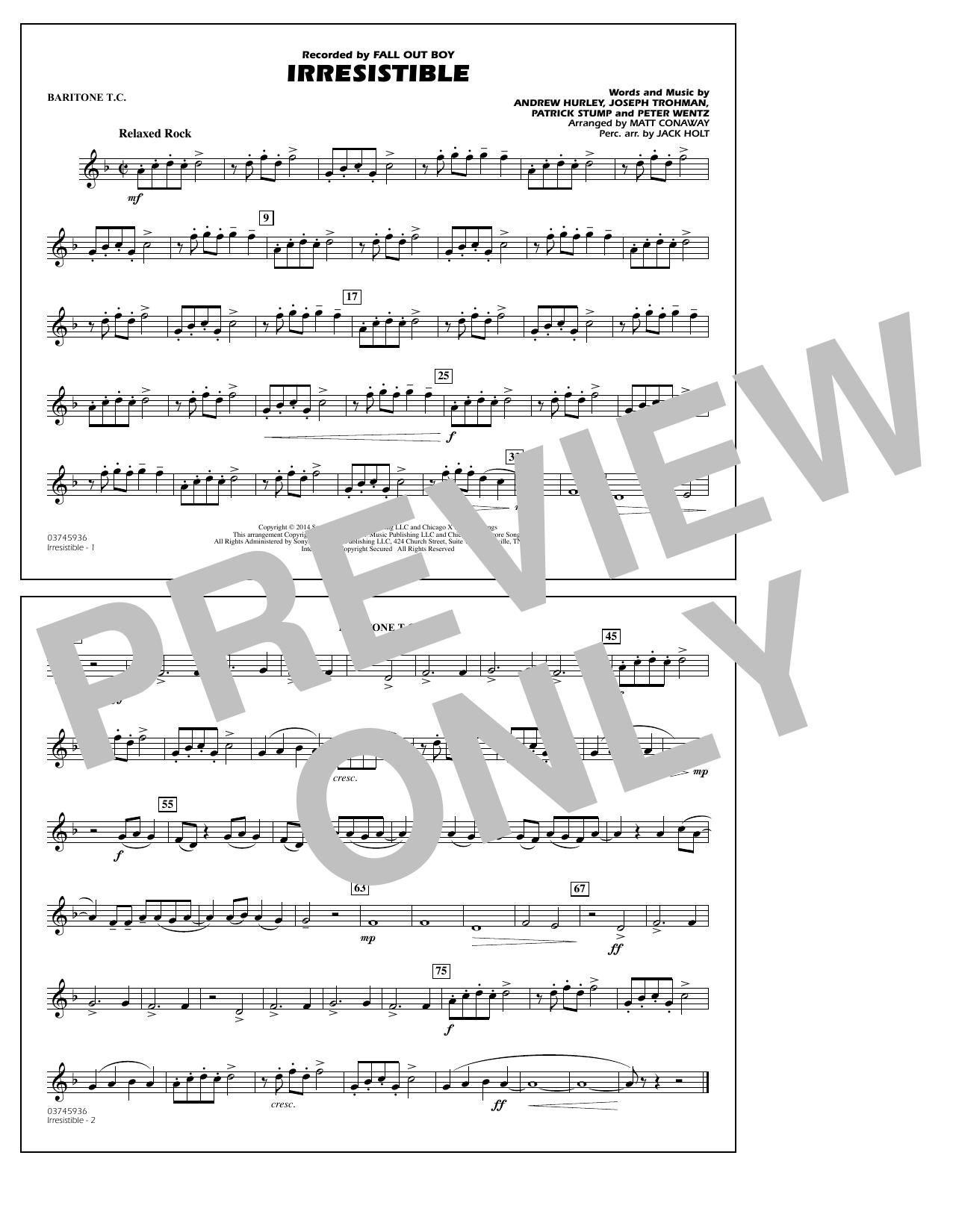 Irresistible - Baritone T.C. (Marching Band)