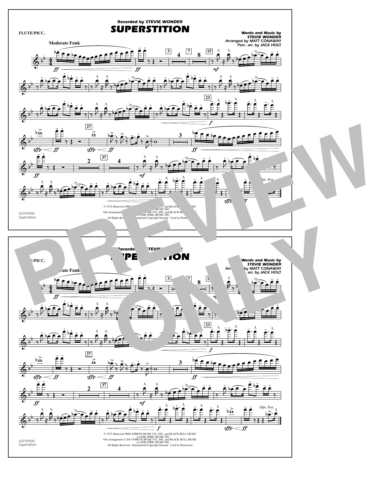 Superstition - Flute/Piccolo (Marching Band)