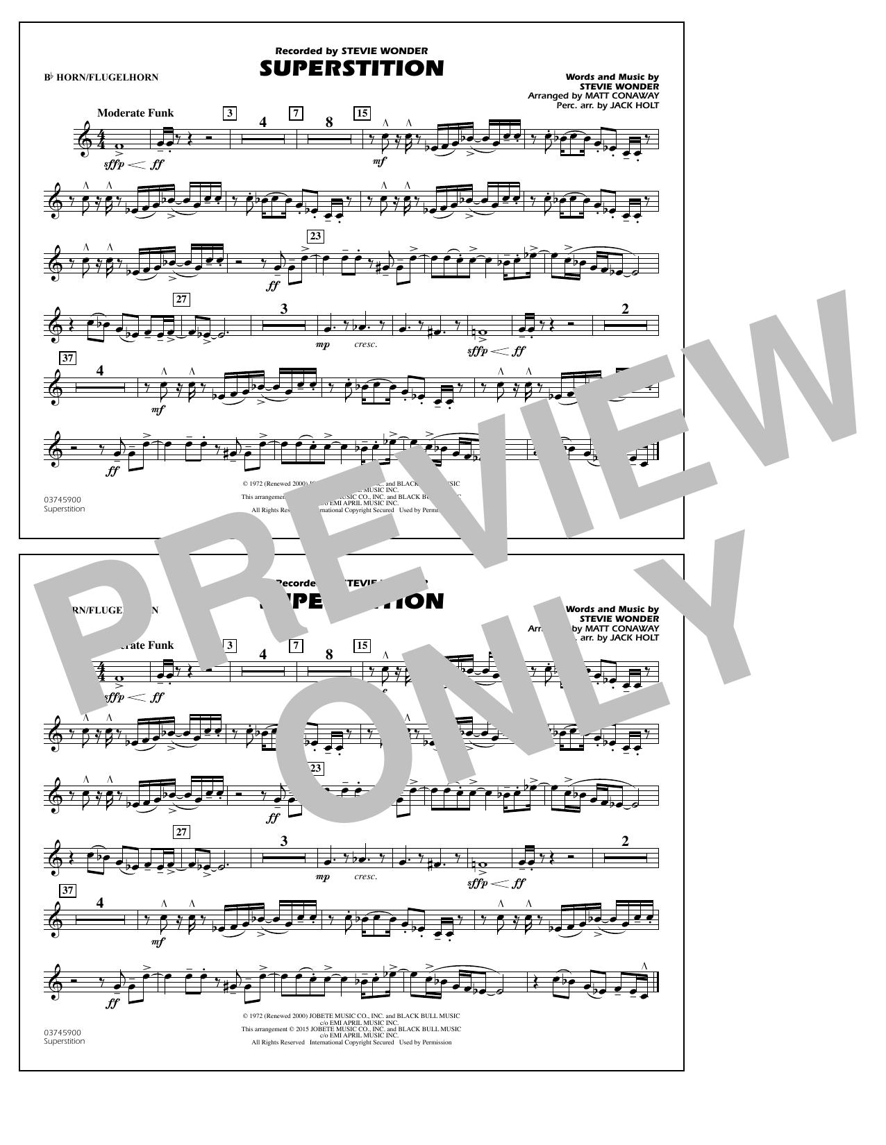 Superstition - Bb Horn/Flugelhorn (Marching Band)