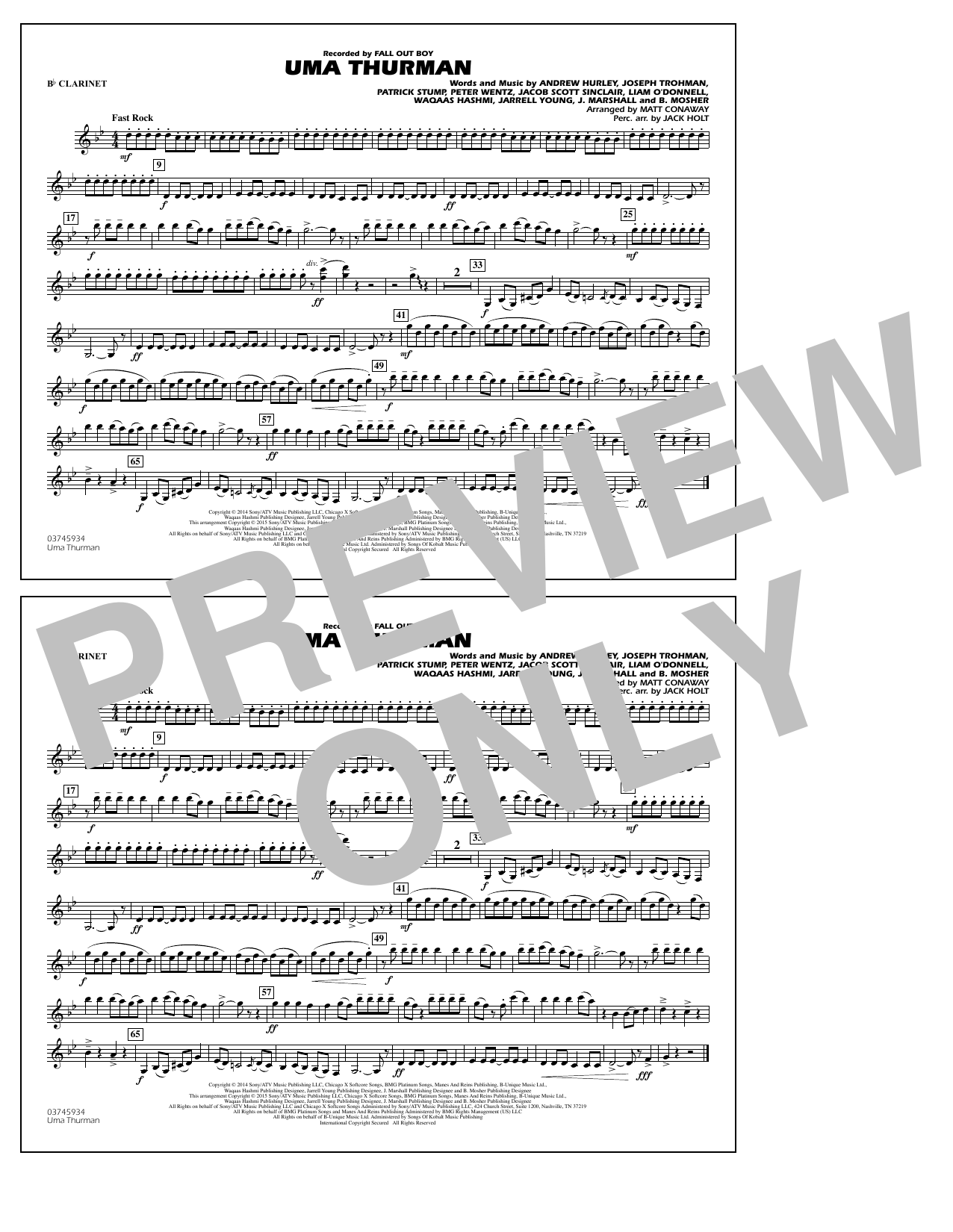 Uma Thurman - Bb Clarinet (Marching Band)