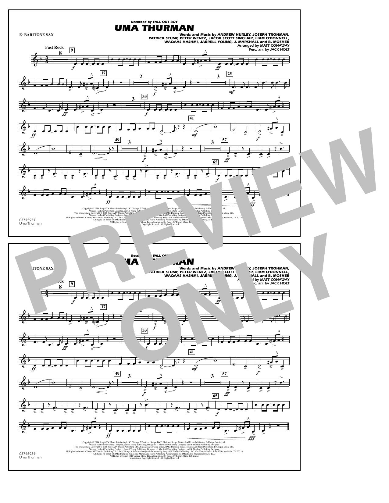 Uma Thurman - Eb Baritone Sax (Marching Band)