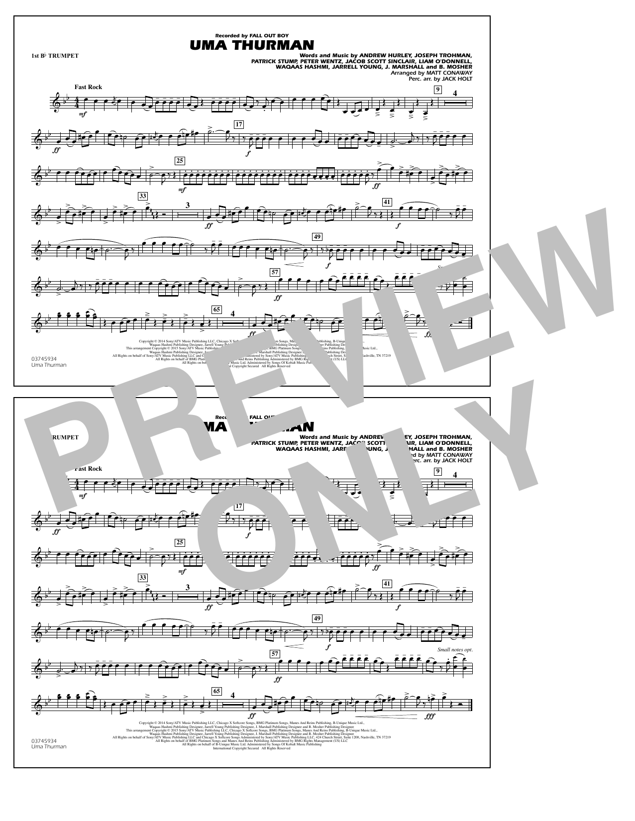 Uma Thurman - 1st Bb Trumpet (Marching Band)