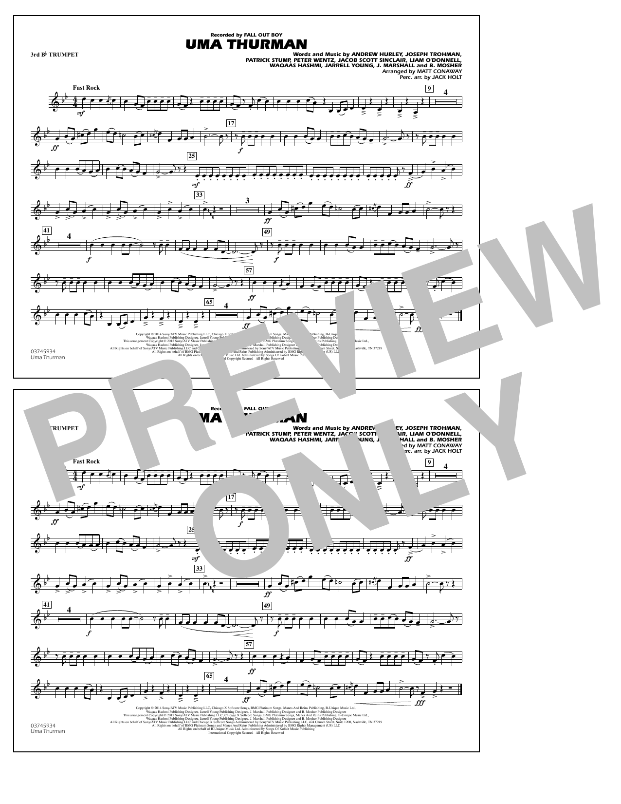 Uma Thurman - 3rd Bb Trumpet (Marching Band)